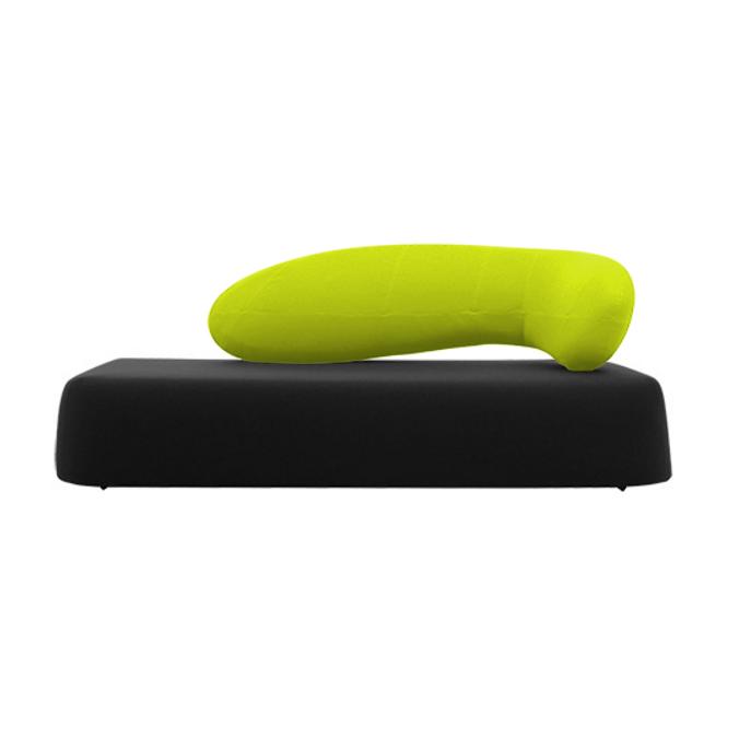Диван ChatДвухместные<br>Дизайнерский диван Chat обладает необычной формой и стилем, что выделяет его среди других диванов современного типа. Диван Chat имеет довольно широкое сиденье и интересную оригинальную спинку, которая благодаря своему плавному изгибу способствует приятному и расслабляющему отдыху.<br><br><br> Диван изготовлен из высококачественных материалов, которые гарантируют его надежность и долговечность. Весь корпус и спинка дивана обиты приятным на ощупь экологически чистым войлоком, который давно извес...<br><br>stock: 0<br>Высота: 85<br>Высота сиденья: 39<br>Глубина: 100<br>Длина: 210<br>Материал обивки: Шерсть, Полиамид<br>Цвет обивки дополнительный: Желтый<br>Коллекция ткани: Felt<br>Тип материала обивки: Ткань<br>Цвет обивки: Черный