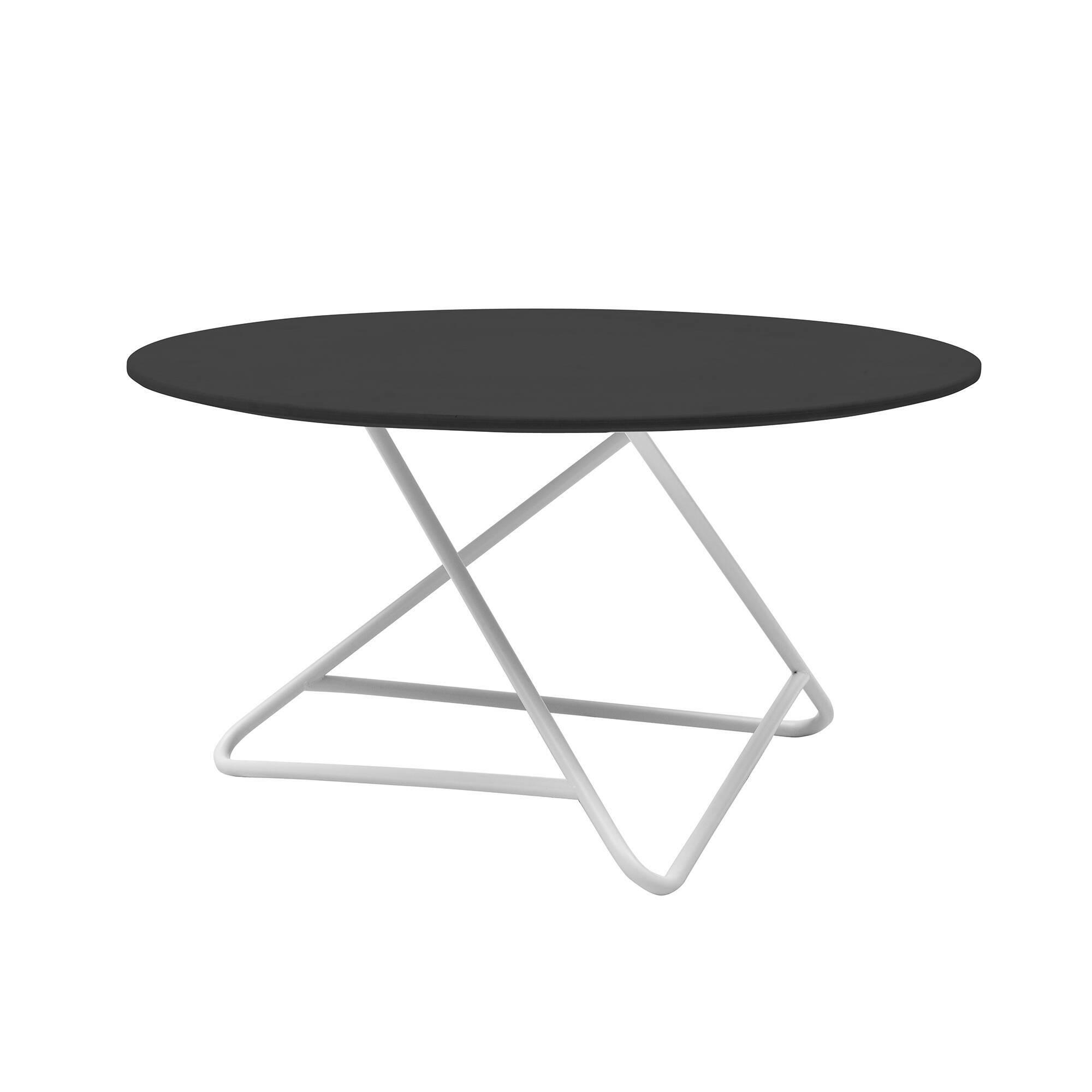 Кофейный стол TribecaКофейные столики<br>Сочетание четкого стиля и оригинальной конструкции стола в результате дает очень интересный результат. Кофейный стол Tribeca будет не только замечательным функциональным дополнением к общей обстановке комнаты, но и станет ее стильным современным украшением. Кроме того, данное изделие обладает широкой столешницей, что делает его вдвойне полезным.<br><br><br> Красивая конструкция ножек изготовлена из стали высочайшего качества, что гарантирует устойчивость и долговечность всего изделия. Широкая ...<br><br>stock: 0<br>Высота: 41<br>Диаметр: 75<br>Цвет ножек: Белый<br>Цвет столешницы: Черный<br>Материал ножек: Сталь<br>Тип материала столешницы: МДФ