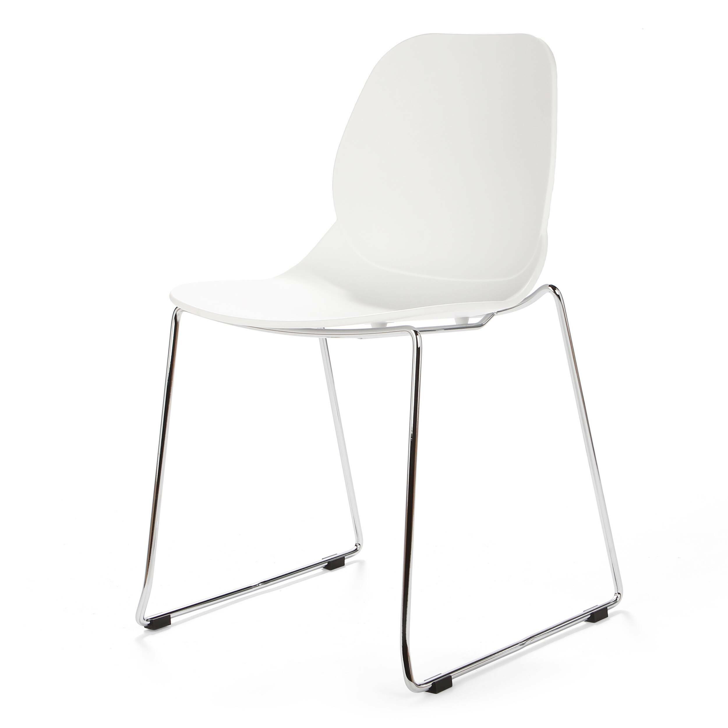 Стул LightweightИнтерьерные<br>Дизайнерский узкий высокий стул Lightweight (Лайтвейт) из пластика без подлокотников на тонких стальных ножках от Cosmo (Космо).<br>Стул Lightweight — это экономичный и стильный вариант мебели для офиса. Сглаженные формы сиденья, спинки и ножек приятны глазу. Сидеть же на нем невероятно комфортно, так как дизайнеры позаботились о своем потребителе, они спроектировали вогнутую спинку стула, благодаря которой отдых приятен и безвреден.<br> <br> Полипропилен, из которого выполнено сиденье, славится св...<br><br>stock: 2<br>Высота: 82,5<br>Ширина: 54<br>Глубина: 49,5<br>Цвет ножек: Хром<br>Цвет сидения: Белый<br>Тип материала сидения: Полипропилен<br>Тип материала ножек: Сталь нержавеющая
