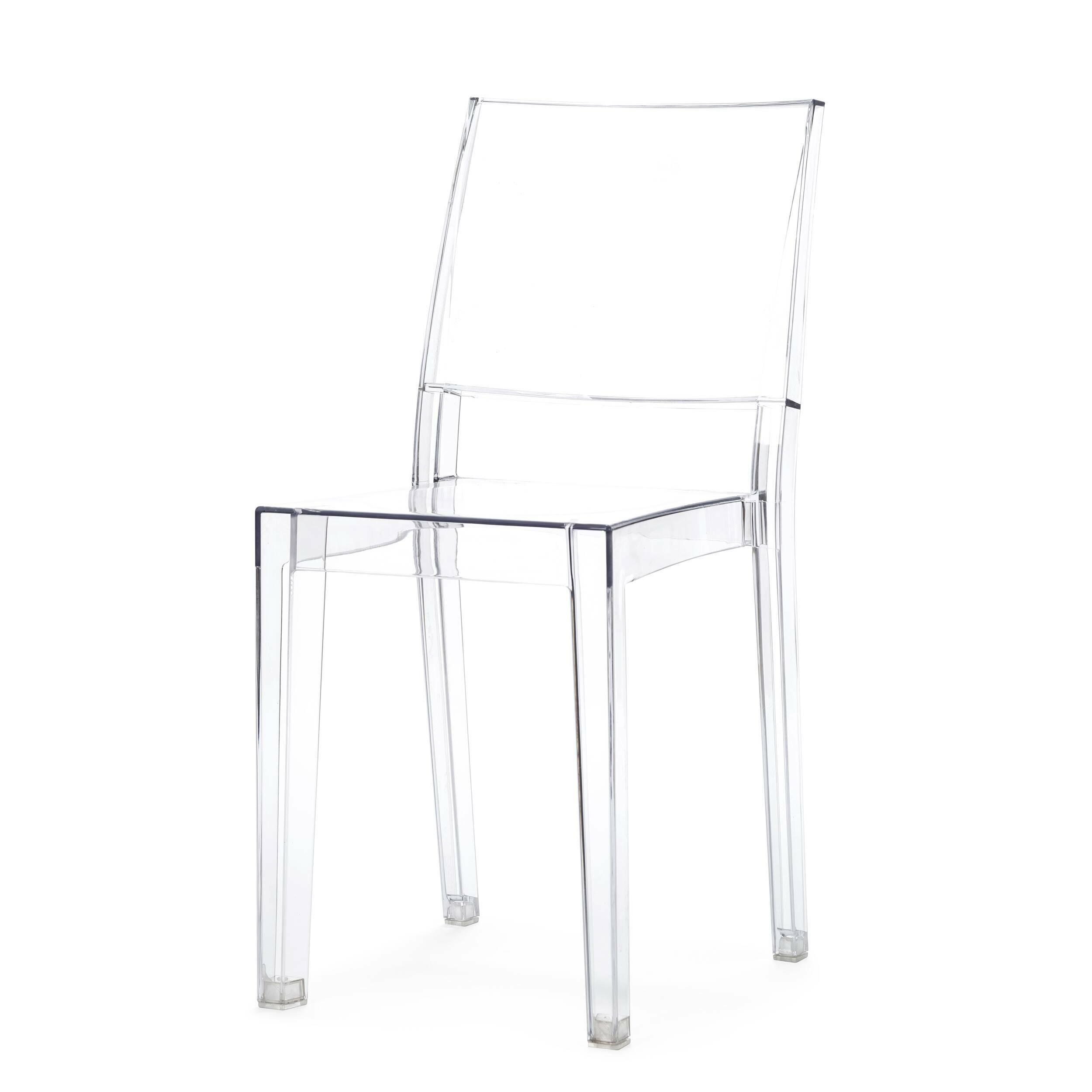 Стул La MarieИнтерьерные<br>Дизайнерский прозрачный легкий стул La Marie (Ля Мари) из поликарбоната классической формы от Cosmo (Космо).<br><br> Стул La Marie объединяет в себе строгую геометричность, но при этом легкость и неосязаемость. Стул La Marie сделан из прозрачного поликарбоната, но выглядит так, словно выточен из тончайшего хрусталя или оказался перед нами прямиком из сказки про «Снежную королеву». Он подходит для декорирования современных интерьеров в стиле хай-тек или китч.<br><br><br>     Первый в мире прозрачный сту...<br><br>stock: 18<br>Высота: 85,5<br>Высота сиденья: 48<br>Ширина: 41<br>Глубина: 53,5<br>Материал каркаса: Поликарбонат<br>Тип материала каркаса: Пластик<br>Цвет каркаса: Прозрачный
