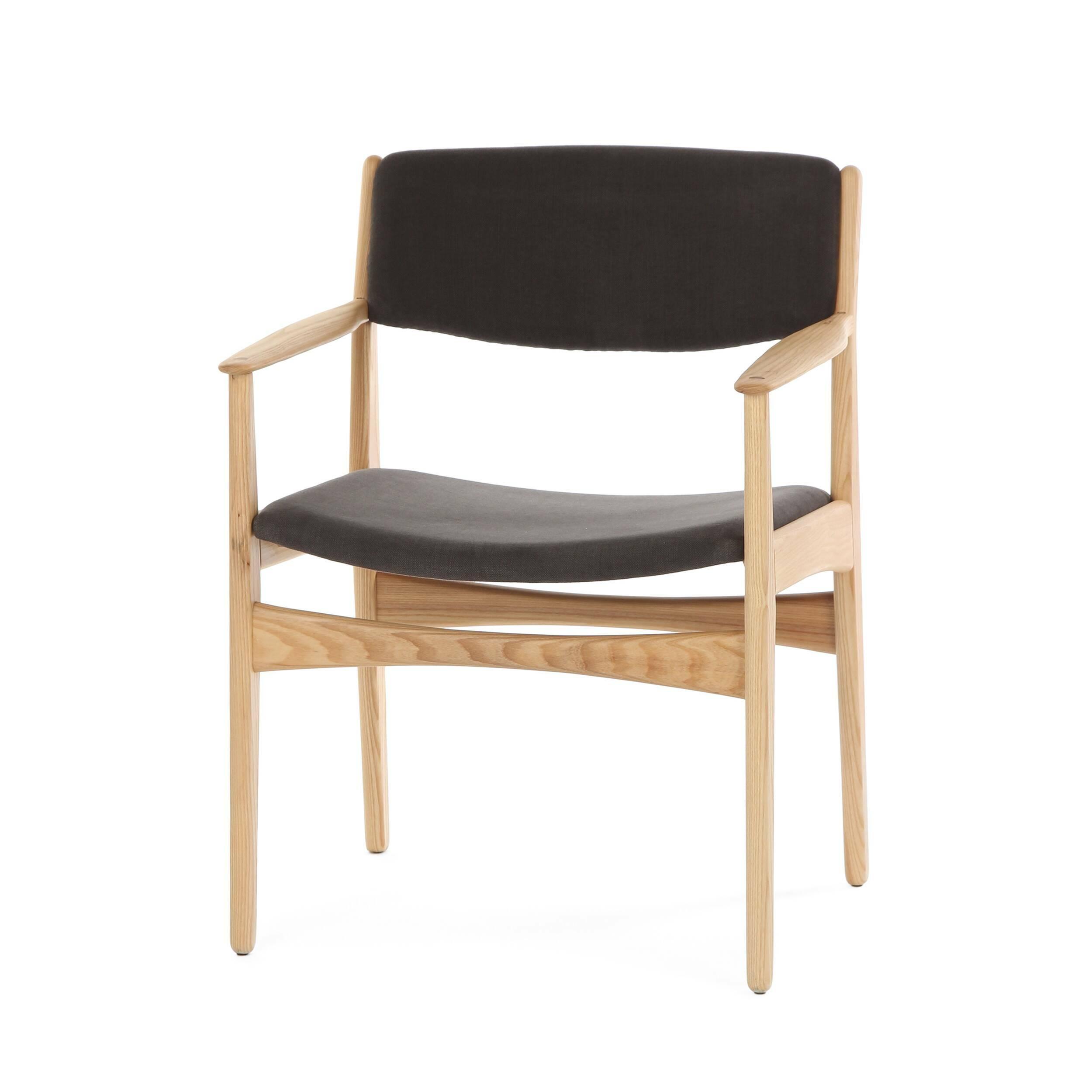 Стул Danish ChairИнтерьерные<br>Дизайнерский стул Danish Chair (Даниш Чейр) из дерева обычной формы с мягким сиденьем и спинкой от Cosmo (Космо).<br><br>Неудивительно, что стиль, в котором создан стул Danish Chair, — датский (скандинавский) модерн. С момента своего появления стиль плотно вошел в обиход дизайнеров того времени и постепенно превратился в почитаемую классику не только в северных странах, но и в Азии и в Америке. Дизайнеры, создающие оригинальную мебель в этом стиле, отдают предпочтение экоматериалам и мягкому со...<br><br>stock: 1<br>Высота: 79<br>Высота сиденья: 43,5<br>Ширина: 60,5<br>Глубина: 54,5<br>Материал каркаса: Массив ясеня<br>Тип материала каркаса: Дерево<br>Материал сидения: Хлопок, Лен<br>Цвет сидения: Темно-серый<br>Тип материала сидения: Ткань<br>Коллекция ткани: Ray Fabric<br>Цвет каркаса: Светло-коричневый