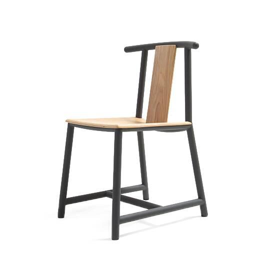 Стул PandaИнтерьерные<br>Зачастую стул в интерьере играет универсальную роль. На нем можно устроиться за обеденным столом, отдохнуть, повесить на него пиджак или использовать в качестве вспомогательного предмета мебели в прихожей или гостиной. Стул Panda, спроектированный американским дизайнером Шоном Диксом, обладает всеми качествами, необходимыми этой важной части домашней обстановки.<br><br><br> Стул Panda имеет твердую спинку, которая будет очень кстати для поддержания осанки и сохранения здоровья спины. Спинка и си...<br><br>stock: 0<br>Высота: 80<br>Высота сиденья: 45<br>Ширина: 51<br>Глубина: 54,5<br>Цвет спинки: Дуб<br>Материал спинки: Фанера, шпон дуба<br>Тип материала каркаса: Сталь<br>Материал сидения: Фанера, шпон дуба<br>Цвет сидения: Белый дуб<br>Тип материала спинки: Дерево<br>Тип материала сидения: Дерево<br>Цвет каркаса: Черный