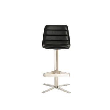 Барный стул RoninБарные<br>Элегантный классический барный стул Ronin будет роскошным украшением любого современного интерьера. Изделие было создано американским дизайнером Шоном Диксом. В нем сразу прослеживается творческий почерк автора: простой лаконичный дизайн, необычная интересная конструкция без лишнего декора, необычайное удобство и функциональность. <br><br> <br><br> Для создания барного стула Ronin использовались только лучшие материалы. Удобная спинка и сиденье изготовлены из натуральной кожи черного цвета. Стиль...<br><br>stock: 0<br>Высота: 110<br>Высота сиденья: 80<br>Ширина: 50,6<br>Глубина: 55<br>Цвет ножек: Хром<br>Цвет сидения: Черный<br>Тип материала сидения: Кожа<br>Коллекция ткани: Harry Leather<br>Тип материала ножек: Сталь нержавеющая