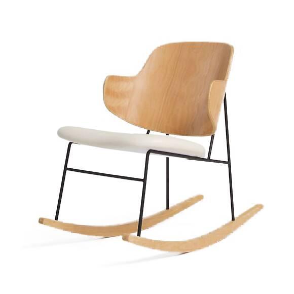 Кресло-качалка Kofod-Larsen PenguinИнтерьерные<br>Кресло-качалка Kofod-Larsen Penguin – это необыкновенно удобный предмет мебели, обладающий интересным ультрасовременным дизайном. Проект данной модели создал датский дизайнер Иб Кофод-Ларсен. Знаменитая модель кресла Kofod – это визитная карточка датского проектировщика. Изделие популярно во всем мире благодаря своему нестандартному дизайну, который ловко сочетает в себе комфортные и уютные формы.<br><br><br> Минимальное количество деталей делает данную модель наиболее практичной и легкой для во...<br><br>stock: 0<br>Высота: 76<br>Высота сиденья: 44,5<br>Ширина: 54,5<br>Глубина: 86,5<br>Цвет ножек: Дуб<br>Материал каркаса: Фанера, шпон дуба<br>Материал ножек: Массив дуба<br>Материал обивки: Хлопок, Лен<br>Тип материала каркаса: Фанера<br>Коллекция ткани: Ray Fabric<br>Тип материала обивки: Ткань<br>Тип материала ножек: Дерево<br>Цвет обивки: Белый<br>Цвет каркаса: Дуб