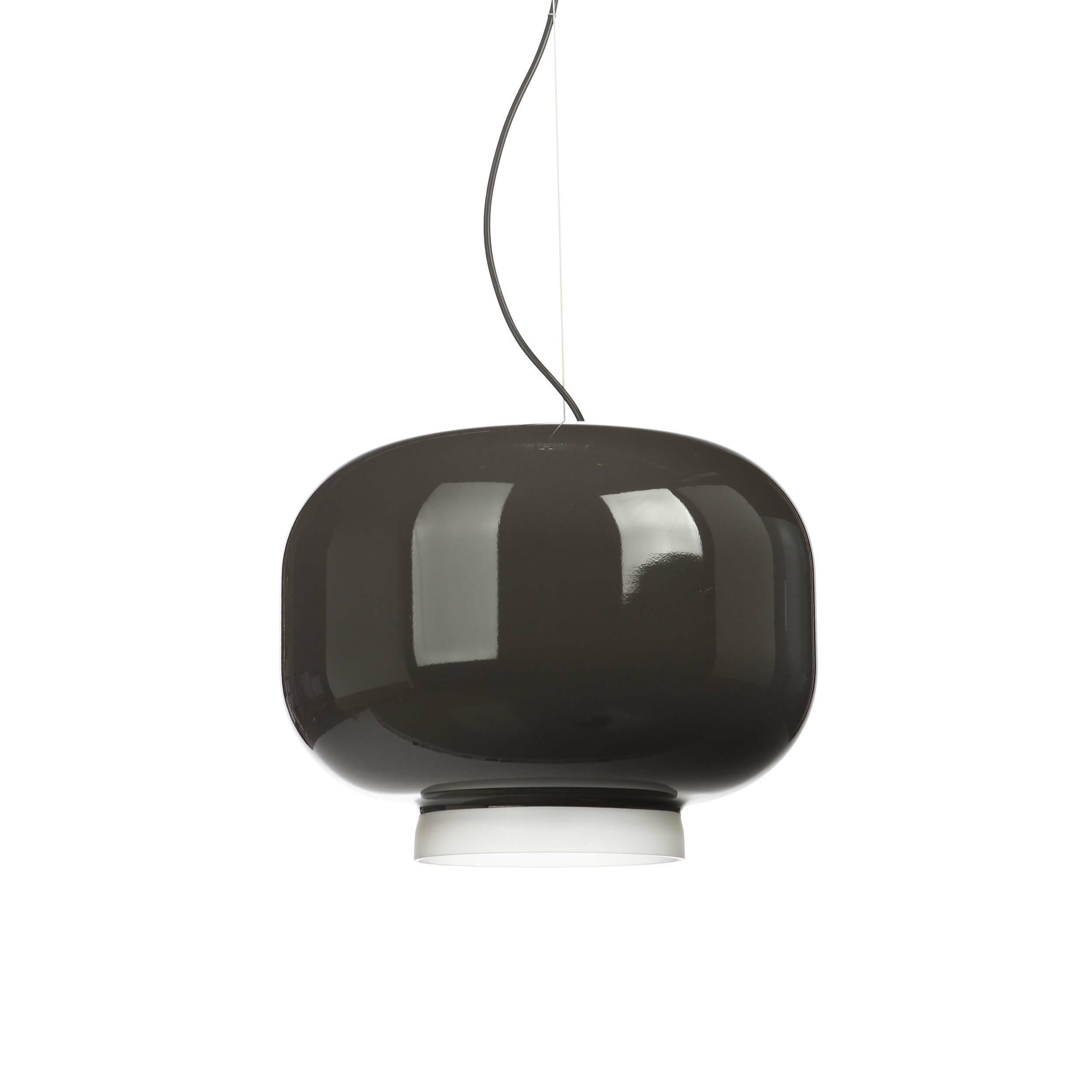 Подвесной светильник Chouchin диаметр 40Подвесные<br>Подвесной светильник Chouchin с плафоном из лакированного выдувного стекла. <br><br><br> Chouchin — традиционный японский фонарь из бумаги и бамбука, который используется для украшения входов в общественные заведения. Светильник Chouhin — это современная интерпретация этого фонаря. Внутренняя часть плафона имеет матовое покрытие, в то время как внешняя окрашена в яркий цвет. <br><br><br>Коллекция включает в себя три светильника разных размеров и цветов: серого, зеленого и оранжевого.<br><br>stock: 1<br>Высота: 160<br>Диаметр: 40<br>Количество ламп: 1<br>Материал абажура: Стекло<br>Мощность лампы: 13<br>Ламп в комплекте: Нет<br>Напряжение: 220<br>Тип лампы/цоколь: E27<br>Цвет абажура: Серый