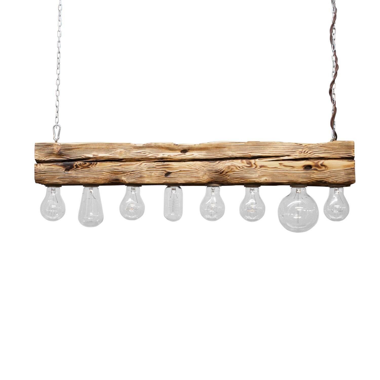 Подвесной светильник Cube 8Подвесные<br><br><br>stock: 0<br>Высота: 10<br>Ширина: 10<br>Длина: 80<br>Длина провода: 120<br>Количество ламп: 8<br>Материал абажура: Сосна<br>Мощность лампы: 40<br>Ламп в комплекте: Нет<br>Напряжение: 220<br>Тип лампы/цоколь: E27<br>Тип производства: Ручное производство<br>Цвет абажура: Натуральный<br>Цвет провода: Коричневый