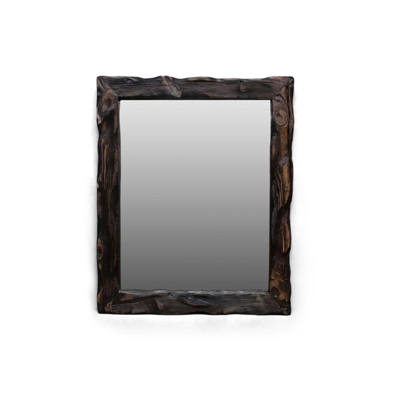 Зеркало Cube_МНастенные<br><br><br>stock: 0<br>Высота: 70<br>Ширина: 10<br>Материал: Сосна<br>Цвет: Палисандр<br>Длина: 65
