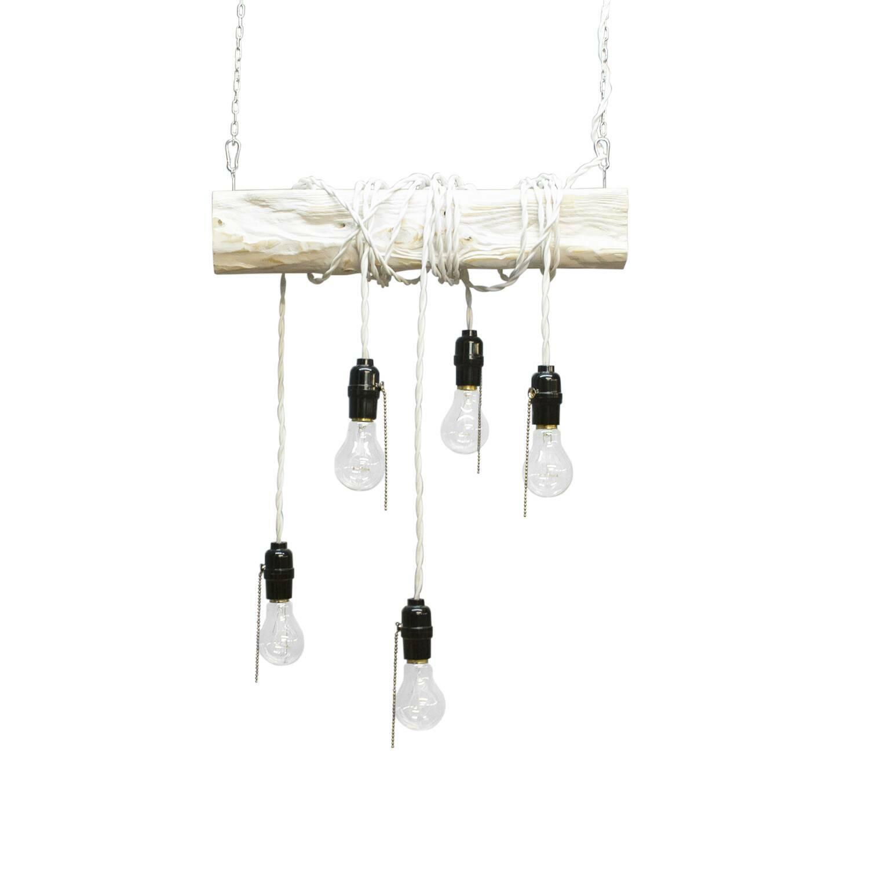 Подвесной светильник WebПодвесные<br><br><br>stock: 0<br>Высота: 10<br>Ширина: 50<br>Длина: 10<br>Длина провода: 150<br>Количество ламп: 5<br>Материал абажура: Сосна<br>Мощность лампы: 40<br>Ламп в комплекте: Да<br>Напряжение: 230<br>Тип лампы/цоколь: E27<br>Тип производства: Ручное производство<br>Цвет абажура: Белый<br>Цвет провода: Белый