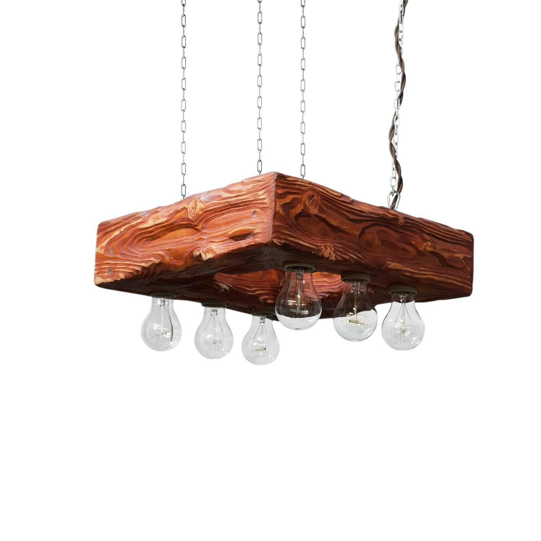 Подвесной светильник ForteПодвесные<br><br><br>stock: 0<br>Высота: 12<br>Ширина: 45<br>Длина: 45<br>Длина провода: 130<br>Количество ламп: 6<br>Материал абажура: Сосна<br>Мощность лампы: 40<br>Ламп в комплекте: Да<br>Напряжение: 230<br>Тип лампы/цоколь: E27<br>Тип производства: Ручное производство<br>Цвет абажура: Махагон<br>Цвет провода: Коричневый