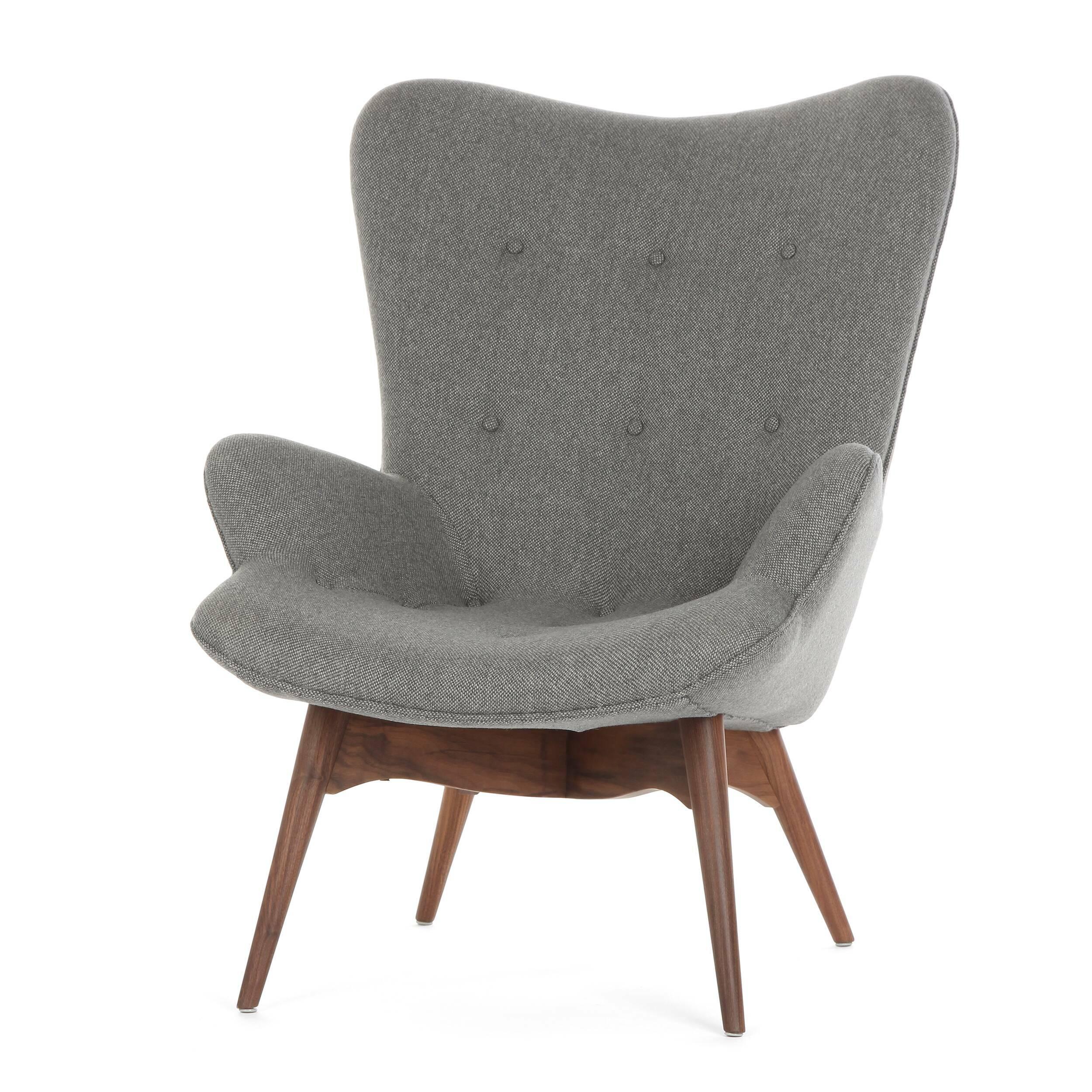 Кресло Contour 2Интерьерные<br>Дизайнерское глубокое кресло Contour 2 (Кантур 2) обивкой из ткани на деревянных ножках от Cosmo (Космо).<br><br><br> Австралийцы любят хороший дизайн во всем, от оформления винных бочонков до серферных досок. Одним из самых ярких дизайнеров стал художник Грант Фезерстон, который начал заниматься дизайном в сороковых годах прошлого столетия и с тех пор стал иконой стиля во всем мире.<br><br><br> Идеальное как для прихожей, так и для гостиной, оригинальное кресло Contour знаменует собой значительный о...<br><br>stock: 2<br>Высота: 91<br>Высота сиденья: 37<br>Ширина: 73,5<br>Глубина: 83<br>Цвет ножек: Орех американский<br>Материал ножек: Массив ореха<br>Материал обивки: Шерсть, Нейлон<br>Коллекция ткани: B Fabric<br>Тип материала обивки: Ткань<br>Тип материала ножек: Дерево<br>Цвет обивки: Бежево-серый