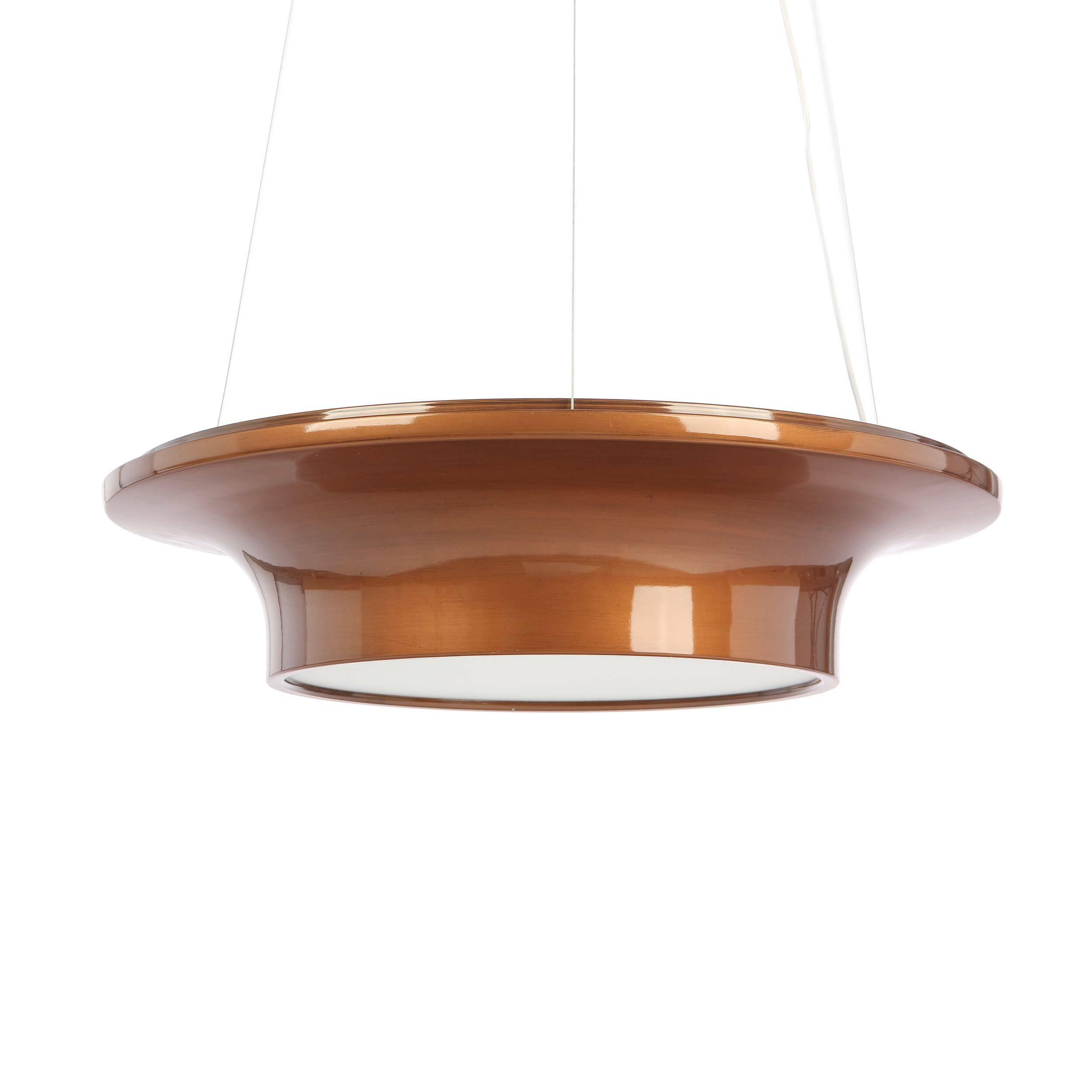 Подвесной светильник Maserlo диаметр 55Подвесные<br>Индустриальный стиль с ненавязчивым присутствием гламура и роскоши – именно таким дизайнеры сделали подвесной светильник Maserlo диаметр 55. Модель выполнена в минималистичном формате, но при этом легко украсит собой даже самую роскошную комнату.<br><br><br> Ультрасовременный стиль этой модели особенно интересно подчеркивается материалами, из которых она изготавливается. Сталь в сочетании со стеклом стала современным трендом в мире оформления интерьеров – это сочетание можно встретить практиче...<br><br>stock: 3<br>Высота: 120<br>Диаметр: 55<br>Количество ламп: 4<br>Материал абажура: Стекло<br>Материал арматуры: Сталь<br>Мощность лампы: 40<br>Ламп в комплекте: Нет<br>Напряжение: 220<br>Тип лампы/цоколь: E14<br>Цвет абажура: Бронза красная матовая<br>Цвет арматуры: Бронза красная матовая