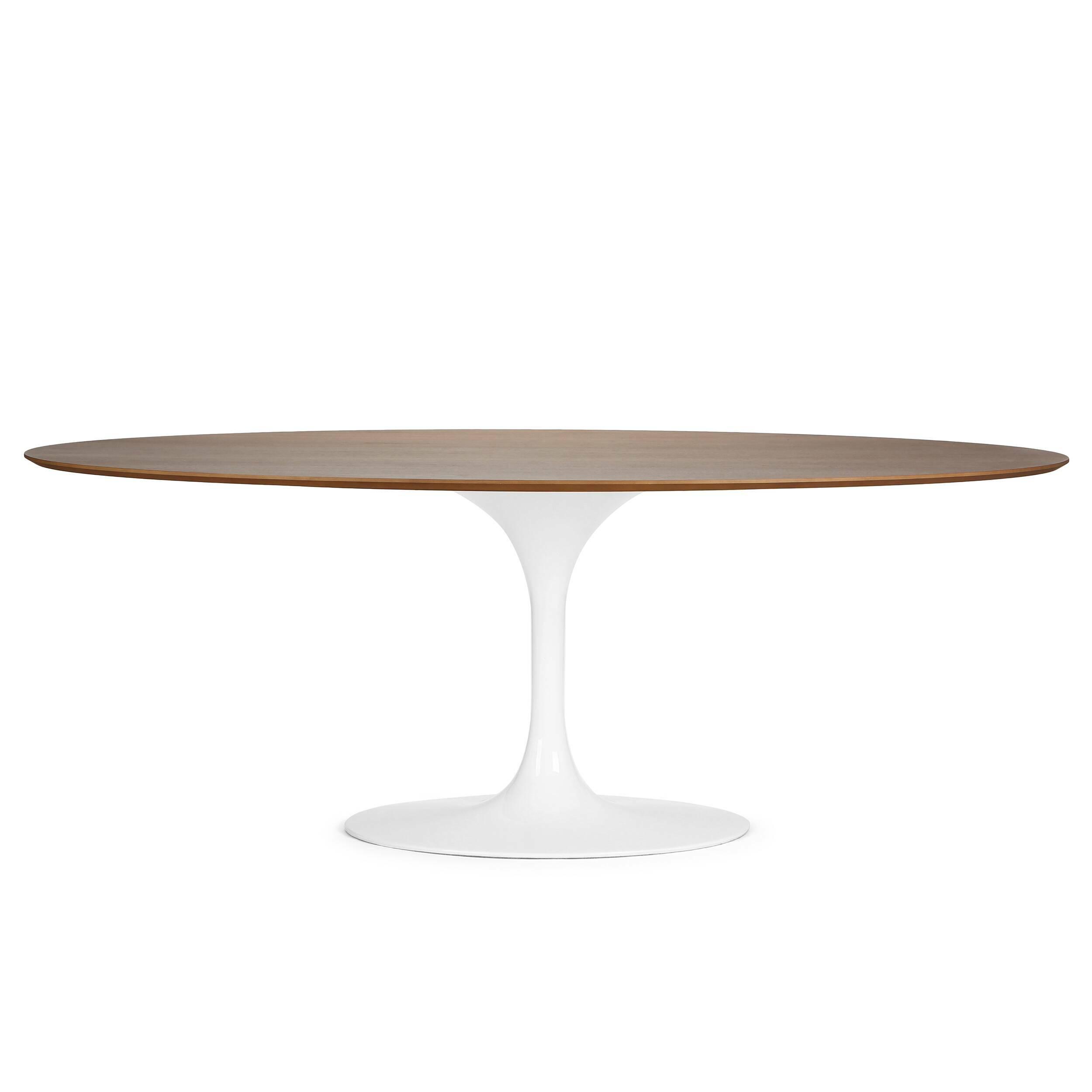 Купить Обеденный стол Tulip овальный с деревянной столешницей, Cosmo