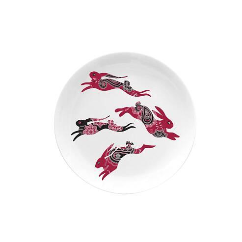 Тарелка десертная RabbitsПосуда<br><br><br>stock: 5<br>Материал: Фарфор<br>Цвет: Разноцветный/Colorful<br>Диаметр: 20