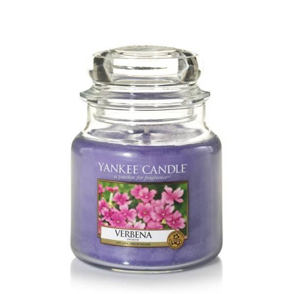 Купить Свеча средняя в стеклянной банке Verbena, Yankee Candle, Лиловый