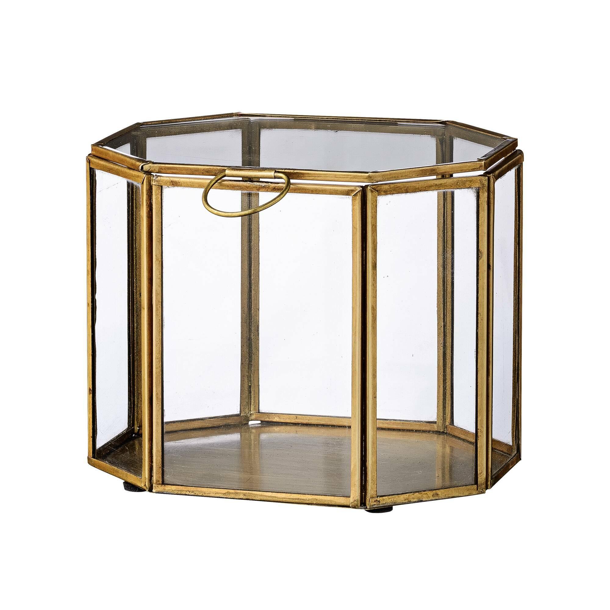Купить Шкатулка Bloomingville латунь/стекло, Золотой, Стекло