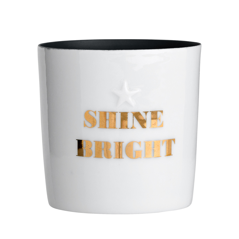 Подсвечник Bloomingville Shine BrightПодсвечники и свечи<br><br><br>stock: 5<br>Высота: 6.5<br>Материал: Фарфор<br>Цвет: Белый<br>Диаметр: 6.5<br>Цвет дополнительный: Золотой