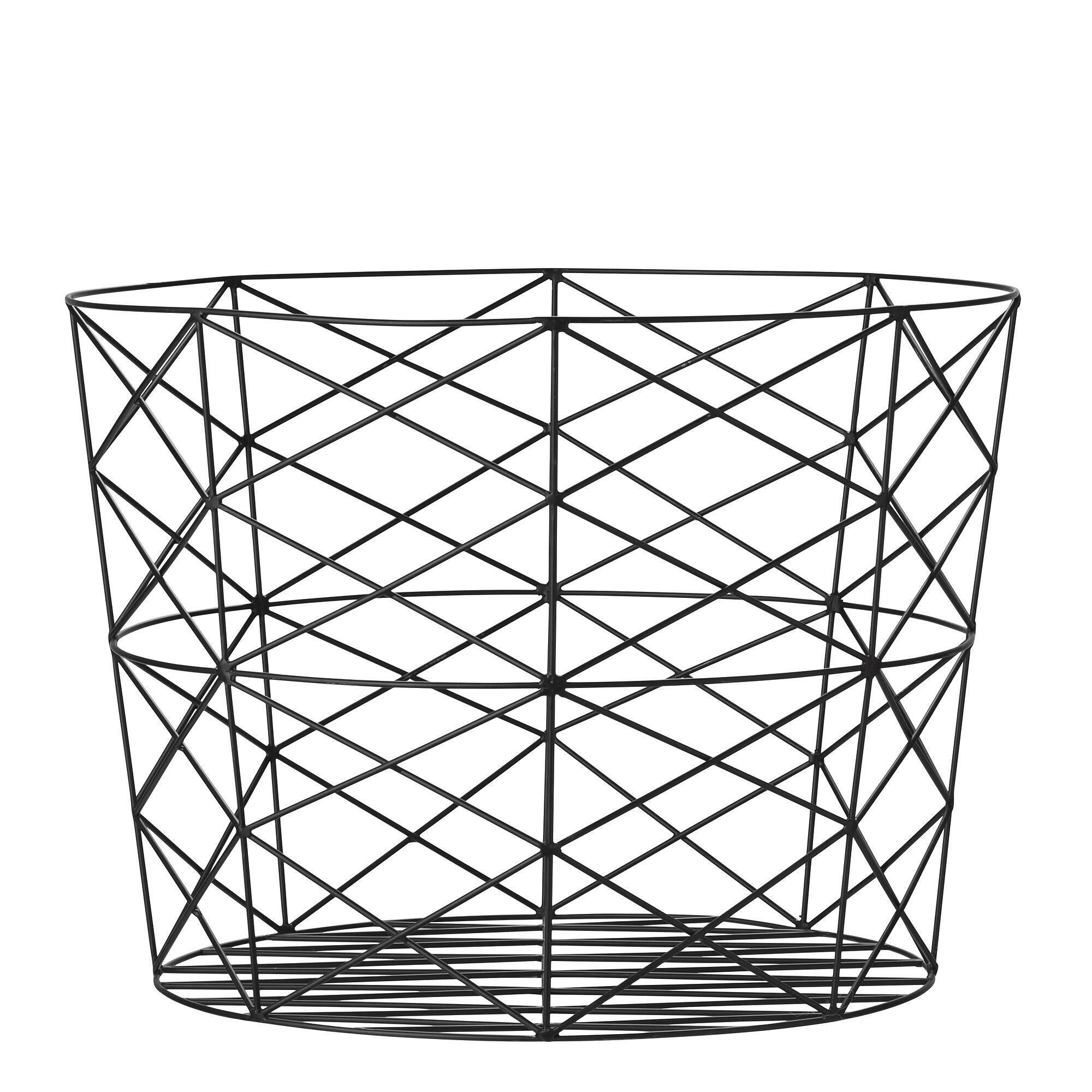 Корзина для хранения Bloomingville металлическая черная корзина для хранения bloomingville металлическая медная