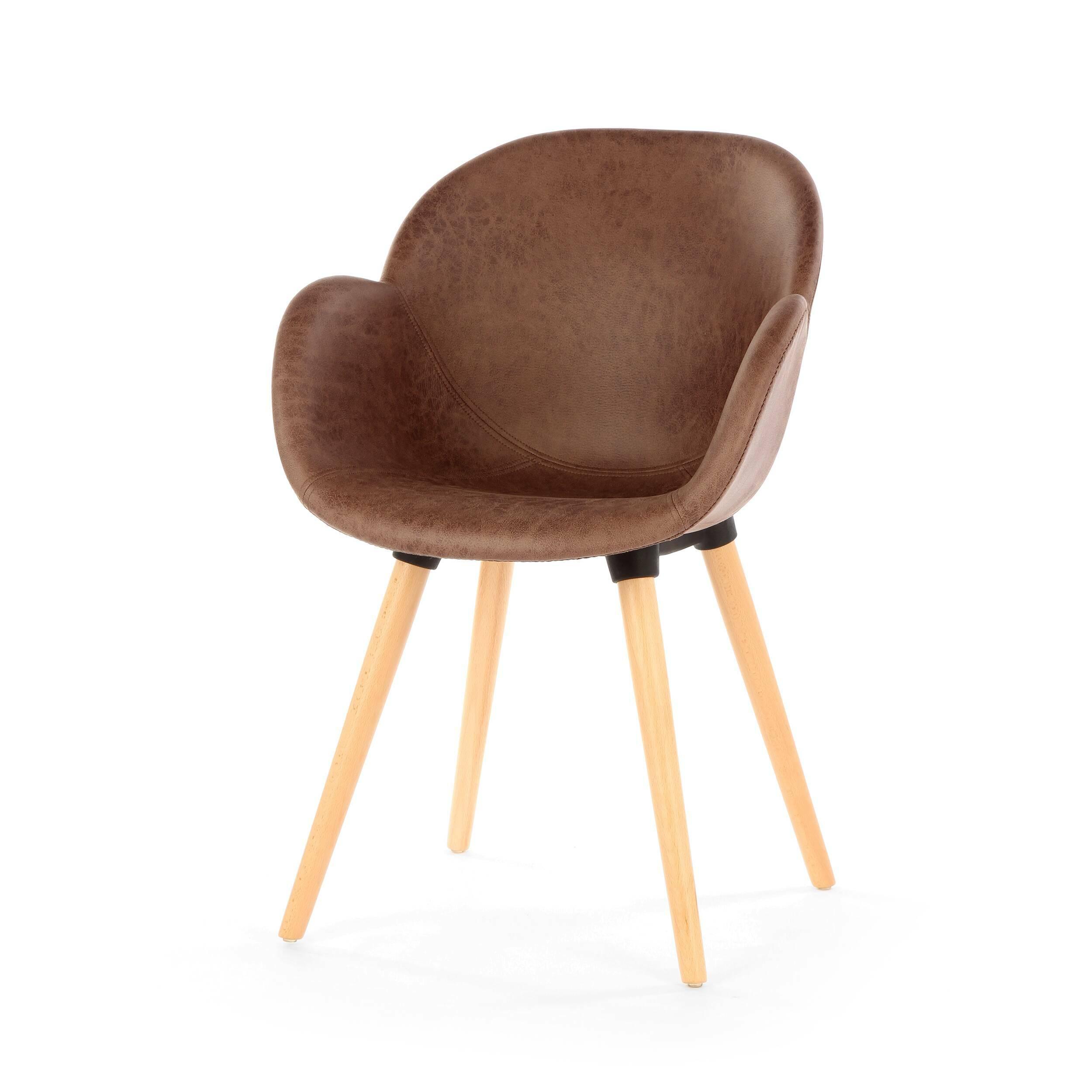 Стул PatchworkИнтерьерные<br>Дизайнерский интерьерный минималистичный стул Patchwork (Пэчворк) на длинных деревянных ножках от Cosmo (Космо).<br><br>Как же иначе можно было назвать данную модель стула? Patcwork — название, которое говорит само за себя. Совершенно прелестный стул Patchwork — отличное дополнение к любому современному интерьеру. Стул можно отнести к скандинавскому стилю, однако подбирать ему окружение нужно с умом. Соседство с ярким запоминающимся дизайном изделия — непростая задачка, но если грамотно подобра...<br><br>stock: 23<br>Высота: 84.5<br>Высота спинки: 45<br>Ширина: 59.5<br>Глубина: 59<br>Цвет ножек: Светло-коричневый<br>Материал ножек: Массив бука<br>Цвет сидения: Коричневый<br>Тип материала сидения: Ткань<br>Тип материала ножек: Дерево