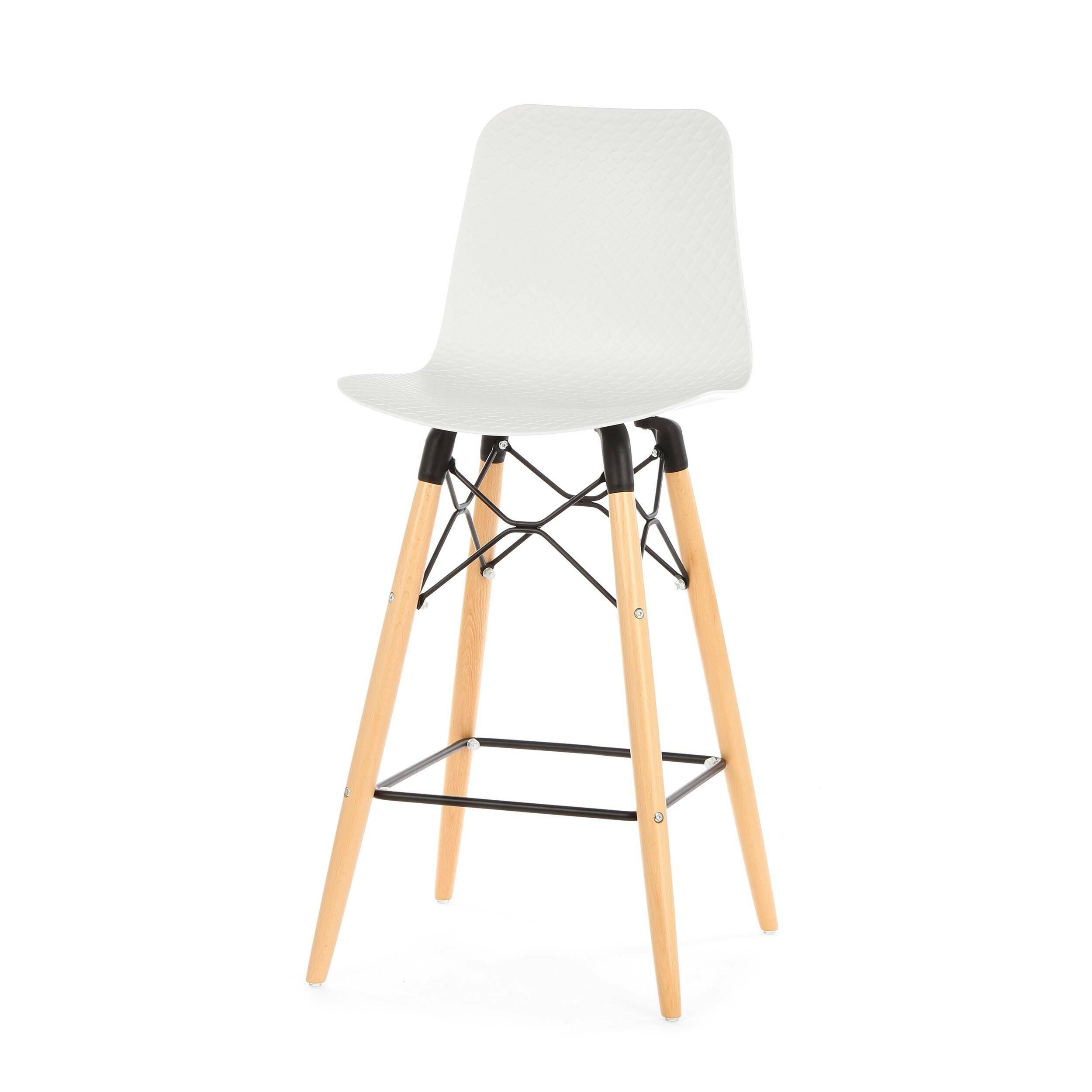 Полубарный стул EiffelПолубарные<br>Полубарный стул Eiffel — это инновационная модель, которая стала результатом гармоничного смешения разных стилей. Наиболее ярко в дизайне данной модели прослеживается стиль хай-тек — стильные черный и белый цвета, плавные изгибы, минимальное количество деталей и необыкновенно красивый внешний вид.<br><br><br> Хай-тек проявляет себя в данном стуле и в качестве материалов, которые используются для его создания. Спинка и сиденье сделаны из полипропилена — очень легкого, но прочного материала. Эта ...<br><br>stock: 0<br>Высота: 103.5<br>Высота сиденья: 68<br>Ширина: 47<br>Глубина: 47.5<br>Цвет ножек: Светло-коричневый<br>Материал ножек: Массив бука<br>Тип материала каркаса: Сталь<br>Цвет сидения: Белый<br>Тип материала сидения: Полипропилен<br>Тип материала ножек: Дерево<br>Цвет каркаса: Черный