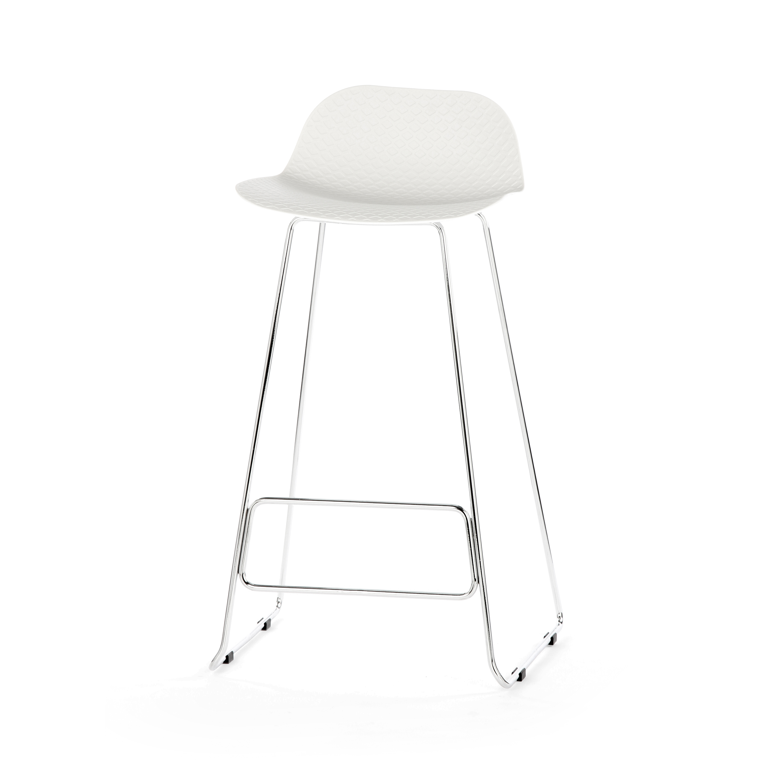 Барный стул CatinaБарные<br>Ультрасовременный дизайн барного стула Catina — это настоящий подарок для обладателя интерьера в стиле минимализм или хай-тек. Эти два стиля переосмысливают достижения высоких технологий о ценность свободного пространства и добавляют в них художественные черты. Барный стул Catina — прекрасный тому пример. Он отличается высокой функциональностью, лаконичным оформлением и необыкновенно красивыми, плавными линиями и белоснежным цветом.<br><br><br> Барный стул Catina изготовлен из современных матер...<br><br>stock: 0<br>Высота: 93<br>Высота сиденья: 76<br>Ширина: 48.5<br>Глубина: 49.5<br>Цвет ножек: Хром<br>Цвет сидения: Белый<br>Тип материала сидения: Полипропилен<br>Тип материала ножек: Сталь