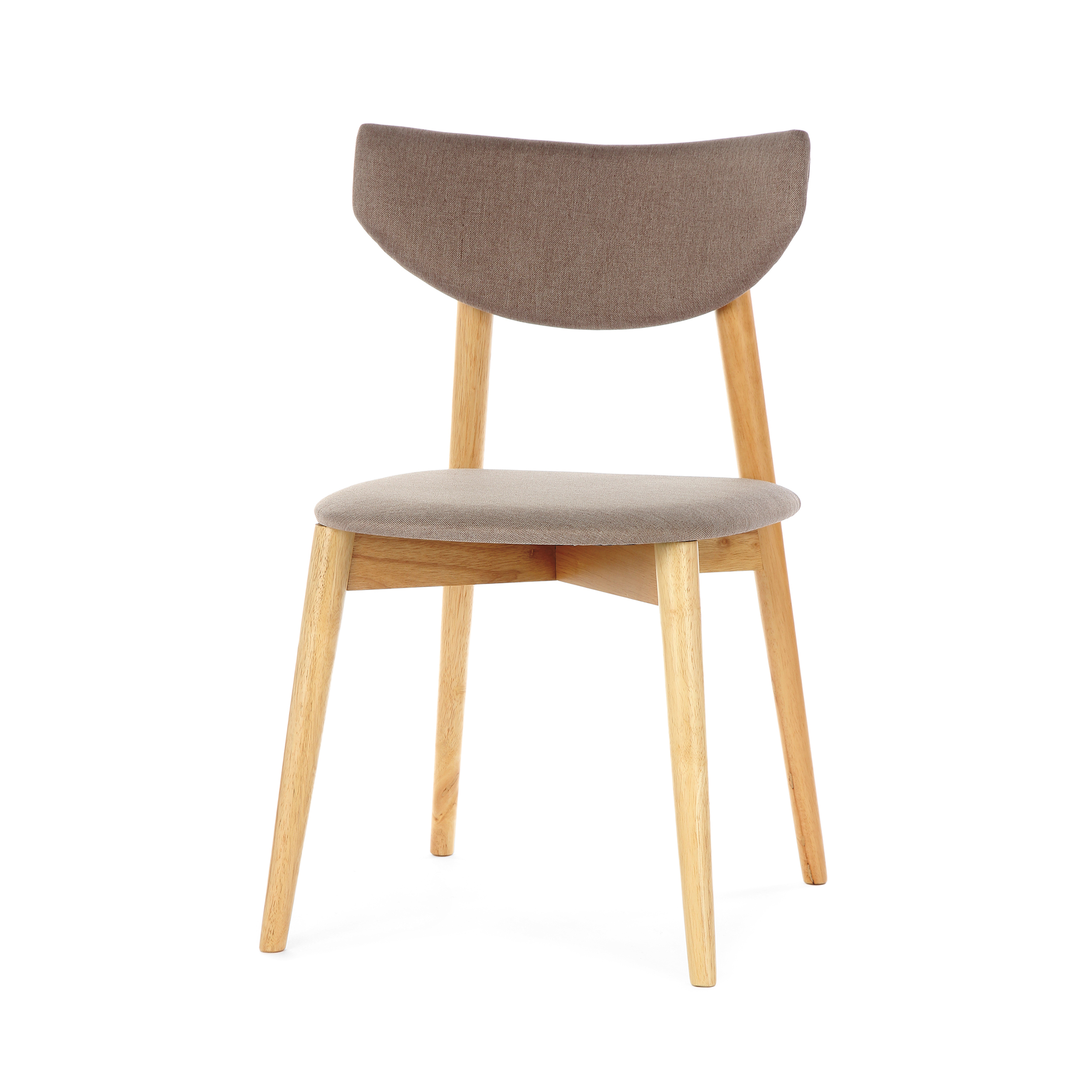 Стул JaceИнтерьерные<br>Простой ненавязчивый дизайн и стильные цвета — стул Jace обладает универсальным назначением и может применяться в самых разных местах. Дизайнер предусмотрел, чтобы изделие было как можно более удобным: спинка стула словно обтекает спину, благодаря чему сохранять правильную осанку на нем можно легко и без напряжения. На выбор предлагаются два цветовых решения: легкий бежево-серый и яркий и позитивный бирюзовый.<br><br><br> Стул Jace является прекрасным представителем мебели из каучукового дерева...<br><br>stock: 2<br>Высота: 80.5<br>Ширина: 49<br>Глубина: 48<br>Цвет ножек: Светло-коричневый<br>Материал ножек: Массив каучукового дерева<br>Материал сидения: Полиэстер<br>Цвет сидения: Бежево-серый<br>Тип материала сидения: Ткань<br>Тип материала ножек: Дерево