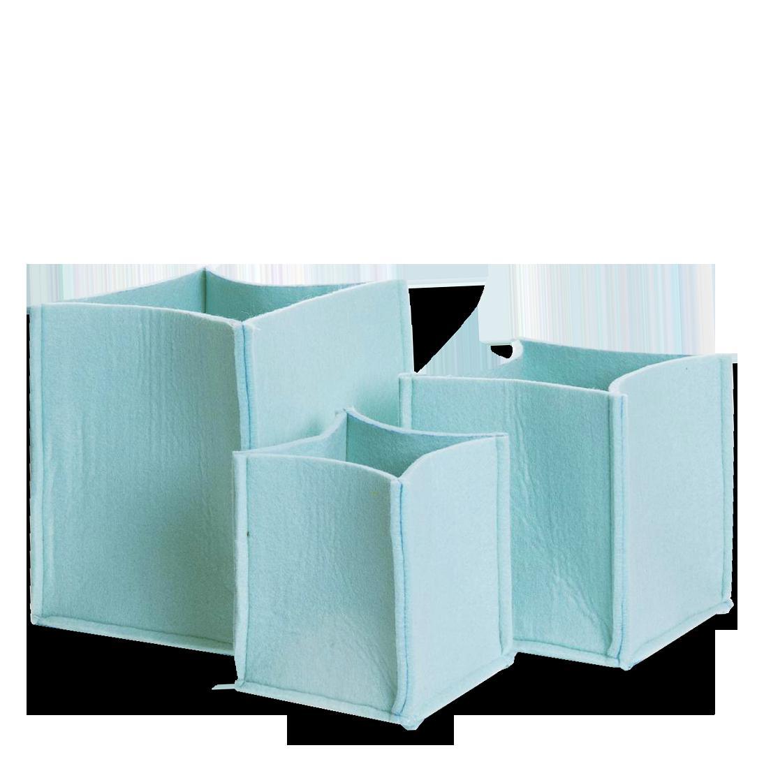 Корзины для хранения Mellow 3 штукиРазное<br>Корзины для хранения Mellow — то место в Вашем доме, где вещи можно не просто хранить, а хранить их красиво.<br>Корзины для хранения Mellow не нарушат Ваш интерьер и сохранят все то, что нужно убрать с глаз в уютном контейнере из войлока, который не царапает мебель.<br><br>stock: 0<br>Высота: 20-16-14<br>Ширина: 18-15-12<br>Глубина: 18-15-12<br>Цвет столешницы: Зеленый<br>Материал каркаса: Войлок