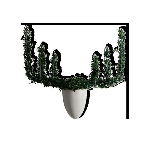 Настенная ваза с каркасом для плетения Menagerie Moose