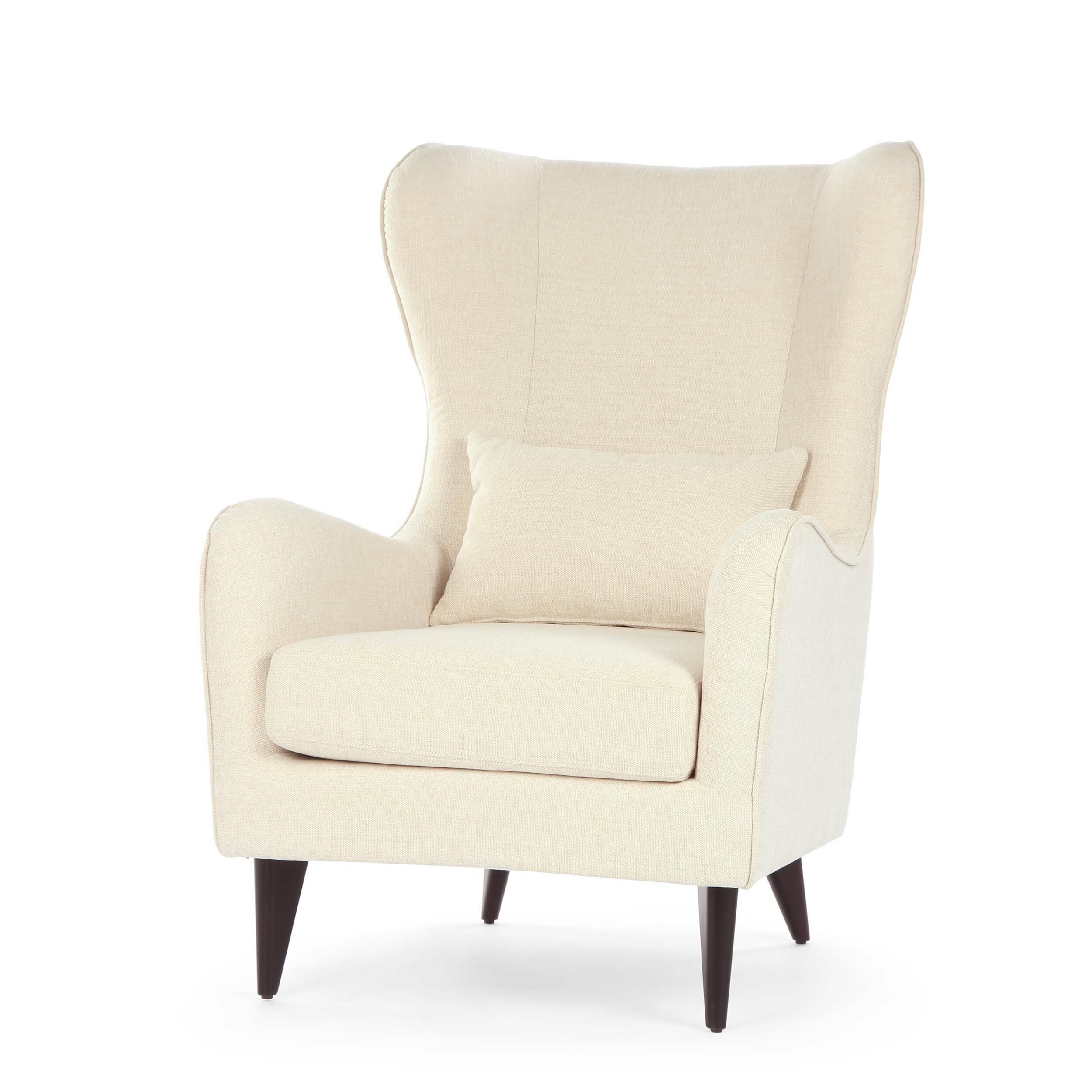 Кресло GretaИнтерьерные<br>Дизайнерское классическое удобное однотонное кресло Greta (Грета) с обивкой из хлопка, льна от Sits (Ситс).<br><br><br> Если вы ищете комфортное  и красивое кресло, которое сможет подойти как для личного отдыха, так и для уютного рабочего кабинета, то кресло Greta заслуживает вашего особого внимания. Его удобная, анатомической формы спинка и не менее удобные подлокотники способствуют действительно качественному отдыху и не дадут утомиться вашей спине. Расположенные с двух сторон «уши» позволят п...<br><br>stock: 2<br>Высота: 108<br>Высота сиденья: 45<br>Ширина: 77<br>Глубина: 93<br>Цвет ножек: Темно-коричневый<br>Материал обивки: Ткань<br>Степень комфортности: Стандарт комфорт<br>Тип материала ножек: Дерево<br>Цвет обивки: Бежевый