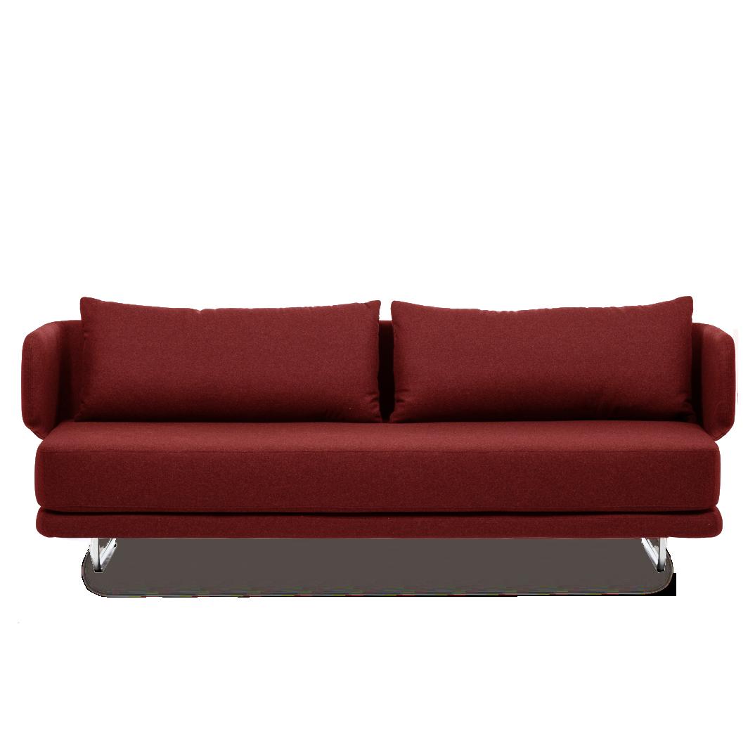 Диван JasperРаскладные<br>Дизайнерский однотонный раскладной диван-кровать Jasper (Джаспер) от Softline (Софтлайн)<br><br> Диван Jasper — это стильный и практичный современный диван-кровать, идеально подходящий и для частных домов, и для общественных мест. Дизайн спинки позволяет вам сидеть в «углах» дивана, предлагая еще много способов расслабиться. Диван легко трансформируется в удобную кровать для двух взрослых.<br><br><br><br><br><br>  Оригинальный диван Jasper выполнен по дизайну датского дуэта Флемминга Буска и Стефана Б.Херц...<br><br>stock: 0<br>Высота: 72<br>Высота сиденья: 39<br>Глубина: 83<br>Длина: 212<br>Цвет ножек: Хром<br>Материал обивки: Хлопок, Полиэстер<br>Коллекция ткани: Vision<br>Тип материала обивки: Ткань<br>Тип материала ножек: Сталь<br>Размер спального места (см): 200x140<br>Цвет обивки: Бордовый