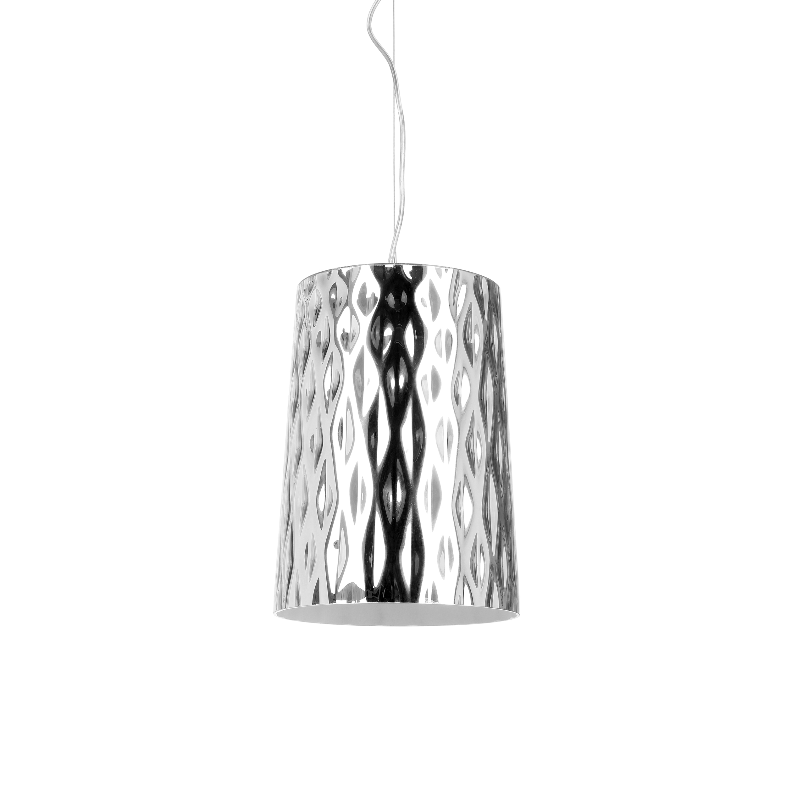 Подвесной светильник StampingПодвесные<br>Подвесной светильник Stamping - это интересное дизайнерское решение для помещений, обустроенных в стиле минимализма и хай-тек. Эпоха высоких технологий требует стильного соответствия, а лампа полностью ему отвечает. Минимализм прослеживается в аккуратных линиях, серебряном оттенке покрытия. <br><br><br> Stamping - это источник качественного освещения,который дает яркий и очень ровный свет. Он непременно надежнен и прочнен. Рекомендован к использованию в кухне, офисе, спальне. Такой светильник бу...<br><br>stock: 0<br>Высота: 120<br>Диаметр: 22<br>Количество ламп: 1<br>Материал абажура: Стекло<br>Материал арматуры: Металл<br>Ламп в комплекте: Нет<br>Напряжение: 220<br>Тип лампы/цоколь: E27<br>Цвет абажура: Серебряный