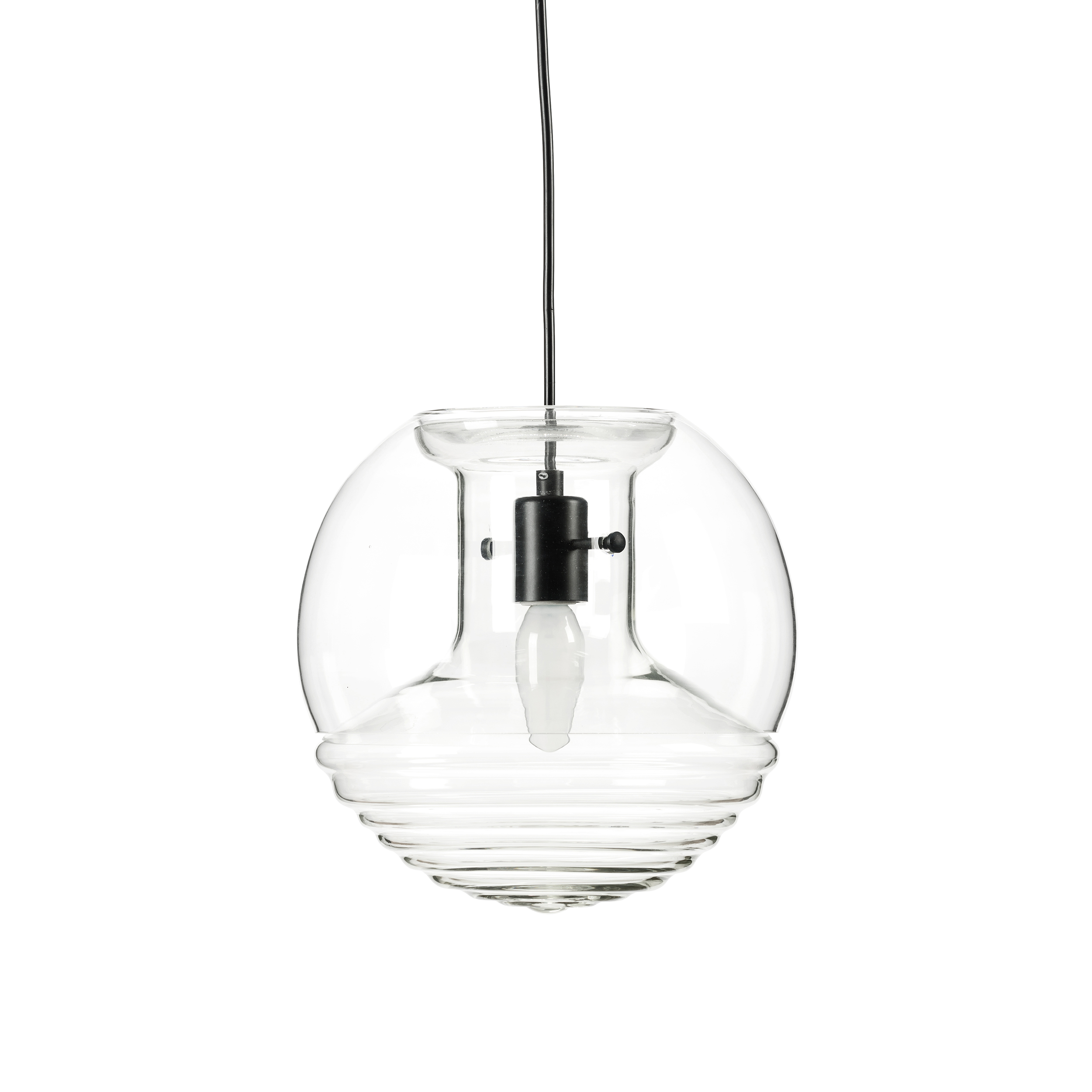 Подвесной светильник Flask диаметр 25Подвесные<br>Любой профессиональный дизайнер знает: чтобы создать что-то гениальное, нужно соблюсти баланс между новшеством и классикой, в противном случае дизайн превращается в безвкусицу. Дизайнер подвесного светильника Flask диаметр 25 Том Диксон знает это правило очень хорошо, поэтому что бы он ни создал, это непременно становится шедевром в мире современного дизайна. <br> <br> Подвесной светильник Flask диаметр 25 — будто два отдельных плафона, слившихся в единую конструкцию. В этом и есть то самое но...<br><br>stock: 0<br>Высота: 180<br>Диаметр: 25<br>Количество ламп: 1<br>Материал абажура: Стекло<br>Мощность лампы: 40<br>Ламп в комплекте: Нет<br>Напряжение: 220<br>Тип лампы/цоколь: E14<br>Цвет абажура: Прозрачный