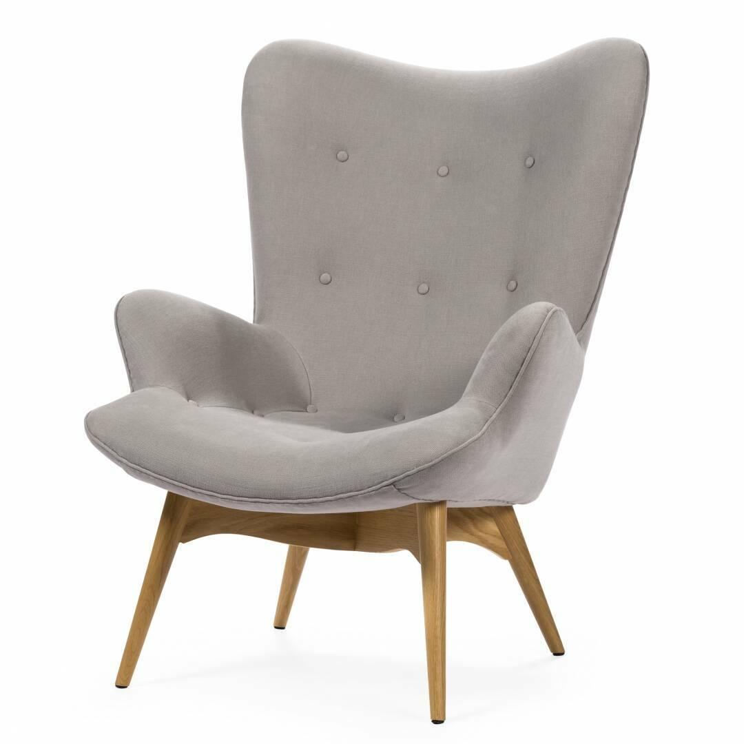 Кресло Contour 2Интерьерные<br>Дизайнерское глубокое кресло Contour 2 (Кантур 2) обивкой из ткани на деревянных ножках от Cosmo (Космо).<br><br><br> Австралийцы любят хороший дизайн во всем, от оформления винных бочонков до серферных досок. Одним из самых ярких дизайнеров стал художник Грант Фезерстон, который начал заниматься дизайном в сороковых годах прошлого столетия и с тех пор стал иконой стиля во всем мире.<br><br><br> Идеальное как для прихожей, так и для гостиной, оригинальное кресло Contour знаменует собой значительный о...<br><br>stock: 0<br>Высота: 91<br>Высота сиденья: 37<br>Ширина: 73,5<br>Глубина: 83<br>Цвет ножек: Дуб<br>Материал ножек: Массив дуба<br>Материал обивки: Хлопок, Лен<br>Коллекция ткани: Ray Fabric<br>Тип материала обивки: Ткань<br>Тип материала ножек: Дерево<br>Цвет обивки: Светло-серый