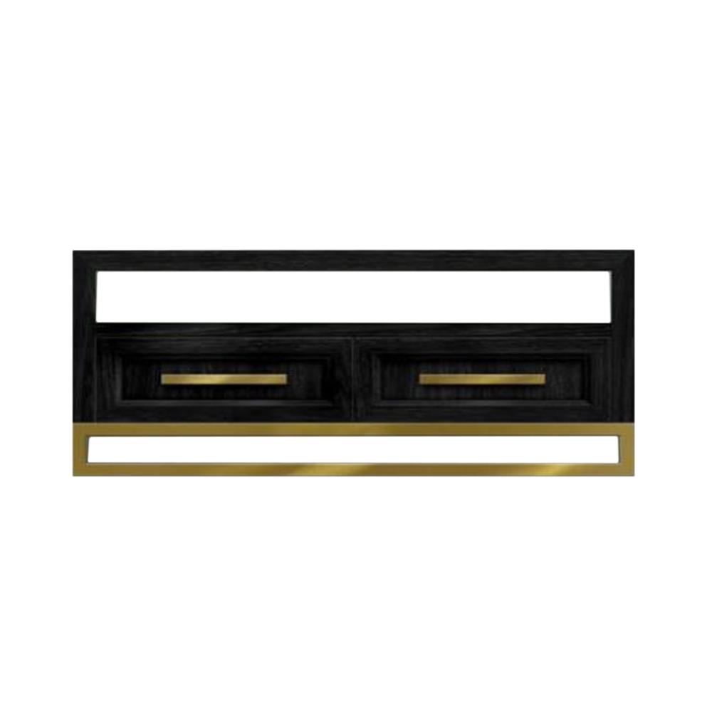 Кофейный стол DeanКофейные столики<br>Кофейный стол Dean создан дизайнером не только для функционального оформления интерьера, но и для его украшения. Модель стола сделана в стиле ар-деко, что подчеркивается его правильной формой, которую украшают роскошные детали.<br><br><br> Весь корпус стола изготавливается из дубового массива – идеального материала для красивой и долговечной мебели. Дизайнер сделал не просто стол, но функциональное хранилище для самых разных предметов домашнего обихода. В нем имеется просторная открытая с двух ...<br><br>stock: 0<br>Высота: 40<br>Ширина: 90<br>Длина: 90<br>Цвет столешницы: Черный<br>Материал столешницы: Массив дуба<br>Тип материала каркаса: Металл<br>Тип материала столешницы: Дерево<br>Цвет каркаса: Золото антикварное