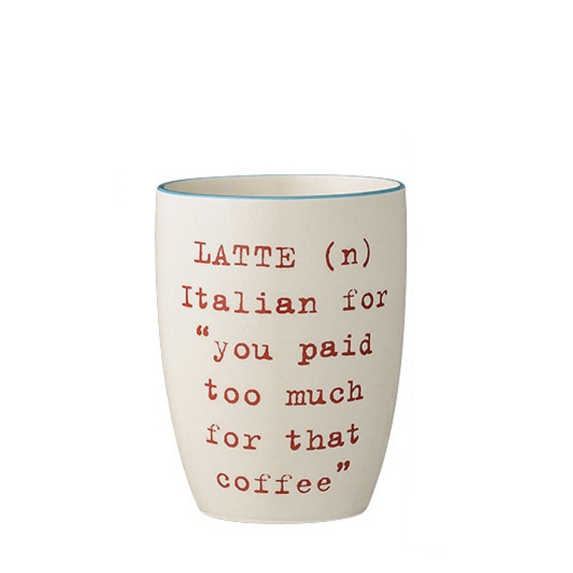 Кружка Latte RedПосуда<br><br><br>stock: 0<br>Высота: 10<br>Материал: Керамика<br>Цвет: Слоновая кость<br>Диаметр: 8