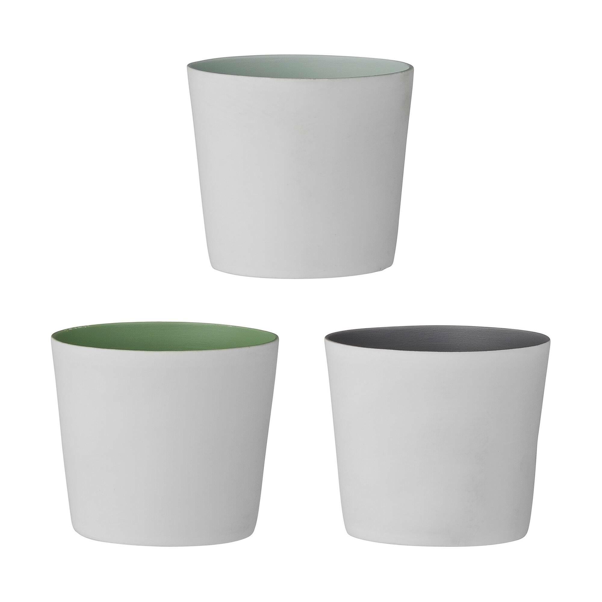 Набор из 3 подсвечниковПодсвечники и свечи<br><br><br>stock: 0<br>Высота: 5<br>Материал: Фарфор<br>Цвет: Белый<br>Диаметр: 5,5