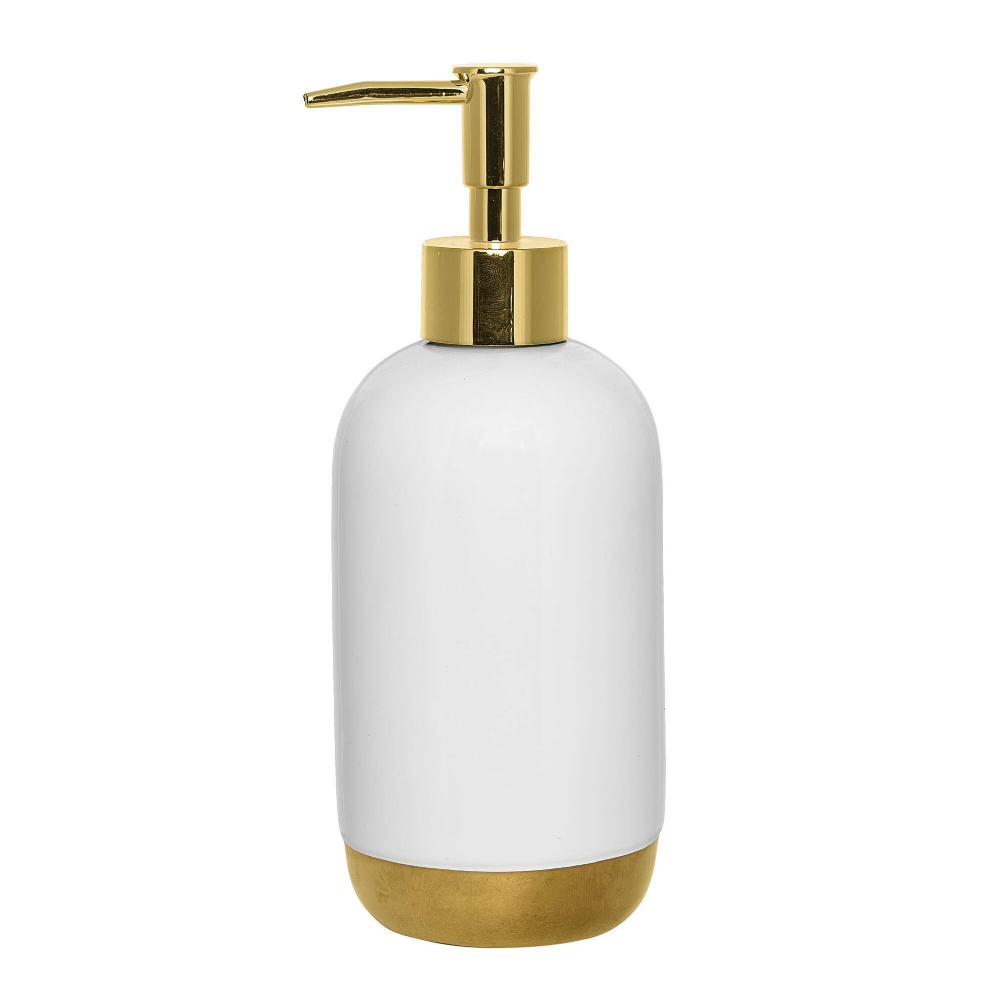 Диспенсер для мыла White&amp;GoldРазное<br><br><br>stock: 0<br>Высота: 19,5<br>Материал: Керамика<br>Цвет: Белый<br>Диаметр: 7,5