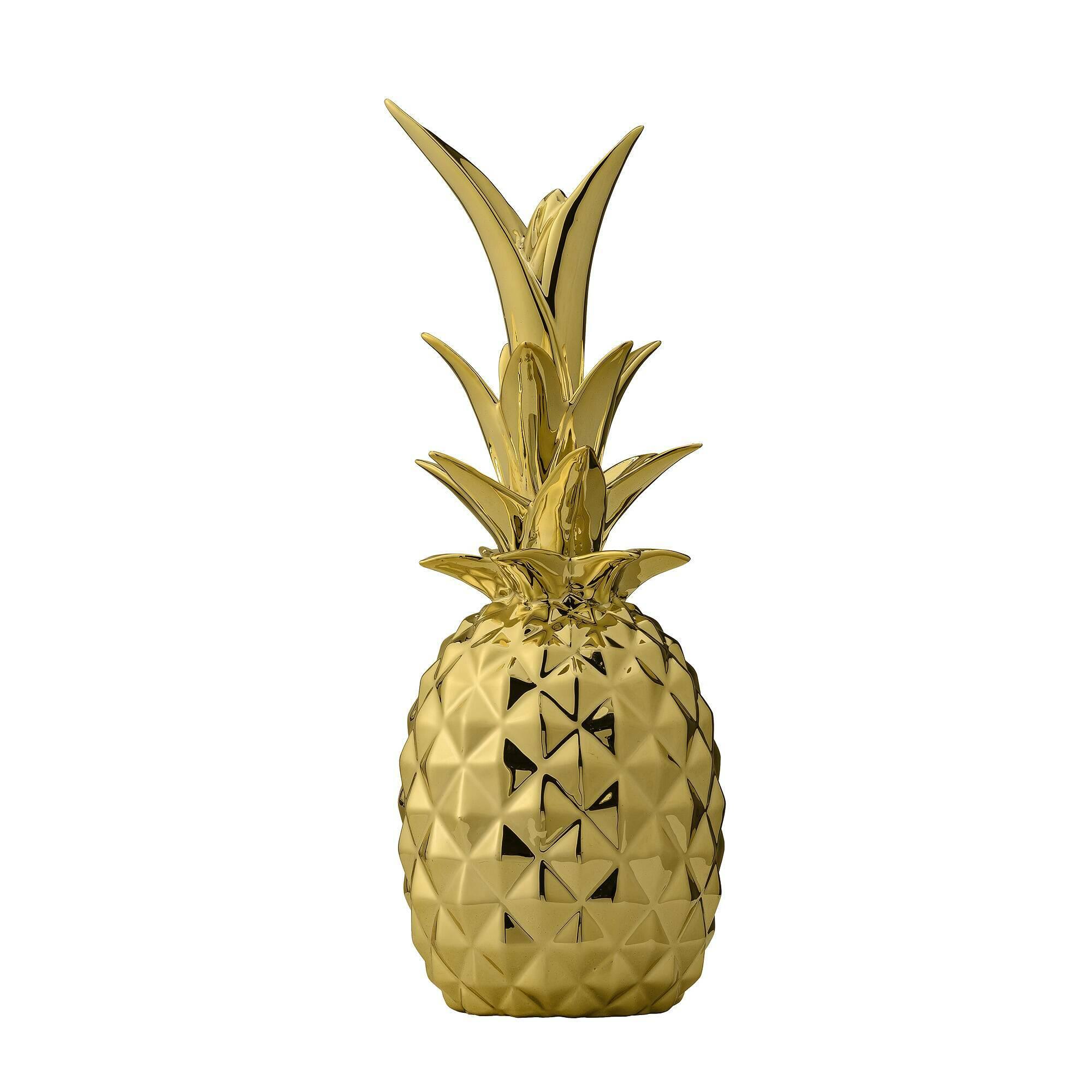 Декоративный ананас GoldНастольные<br><br><br>stock: 0<br>Высота: 24<br>Материал: Керамика<br>Цвет: Золотой<br>Диаметр: 9