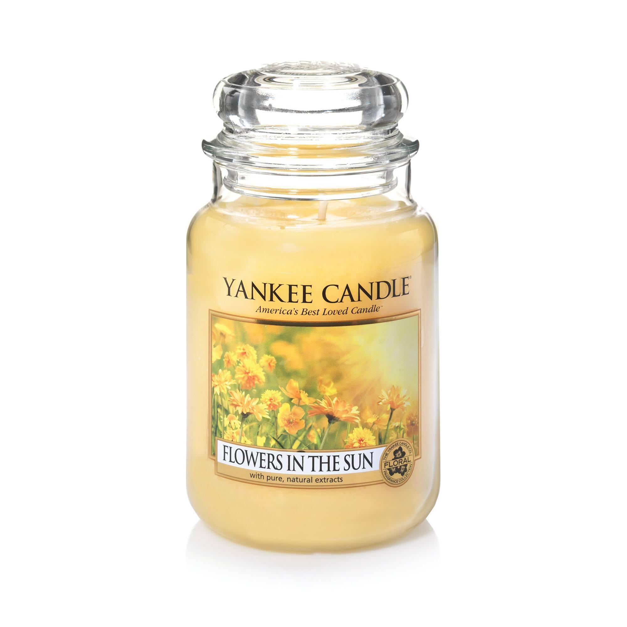 Свеча большая в стеклянной банке Flowers in the Sun свеча большая в стеклянной банке dreamy summer night