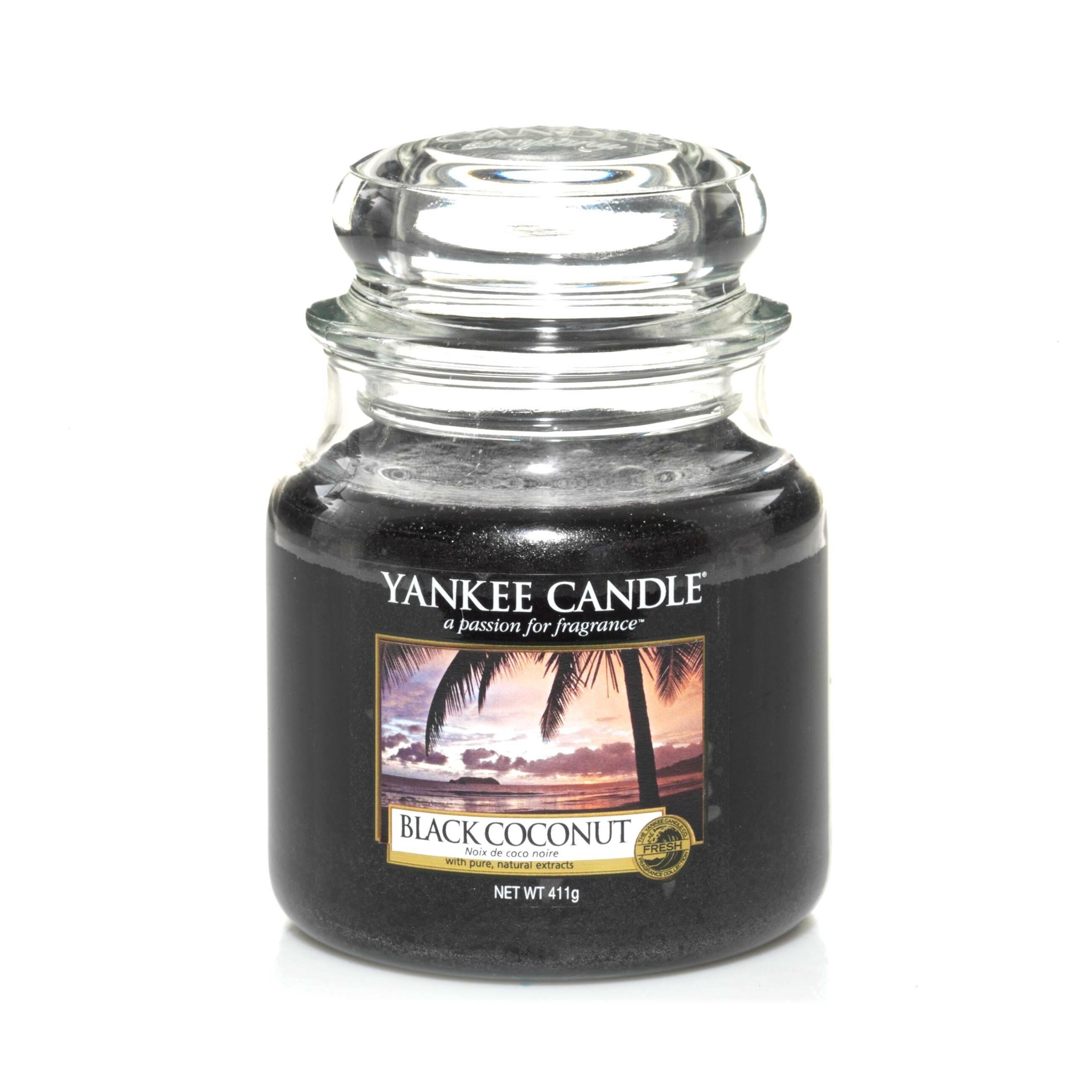 Свеча средняя в стеклянной банке Black Coconut