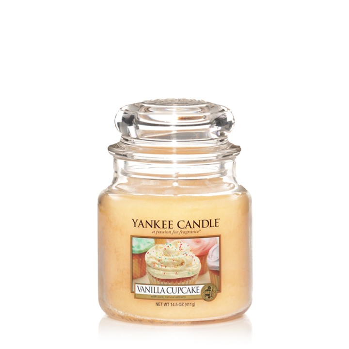 Свеча средняя в стеклянной банке Vanilla Cupcake