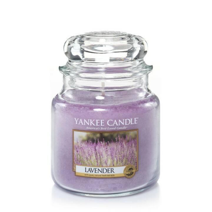 Свеча средняя в стеклянной банке Lavender