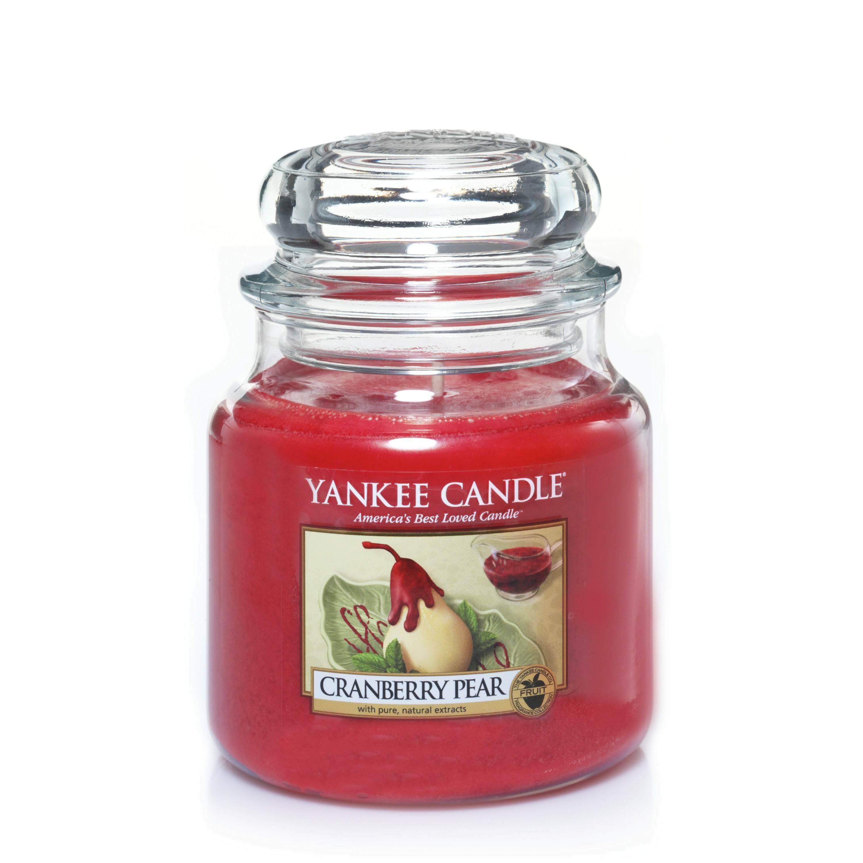 Свеча средняя в стеклянной банке Cranberry Pear