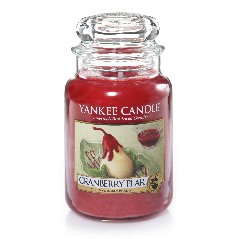 Свеча большая  в стеклянной банке Cranberry PearПодсвечники и свечи<br>Свеча большая в стеклянной банке Cranberry Pear — это сладкий аромат клюквы и груши. Союз терпкости и сладости… свежая садовая груша, сбрызнутая клюквенным сиропом. Верхняя нота — цукаты из цедры апельсина, лимон, сахар. Средняя нота — клюква, грушевые цукаты. Базовая нота — ваниль, солод, сахар.<br> <br> Сделано в США.<br> Время горения 110–150 часов.<br> Вес 623 г<br><br>stock: 0<br>Цвет: Красный