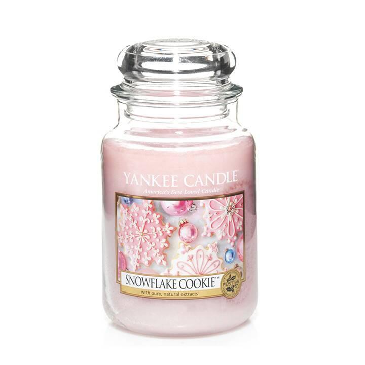 Свеча большая в стеклянной банке Snowflake Cookie свеча большая в стеклянной банке dreamy summer night