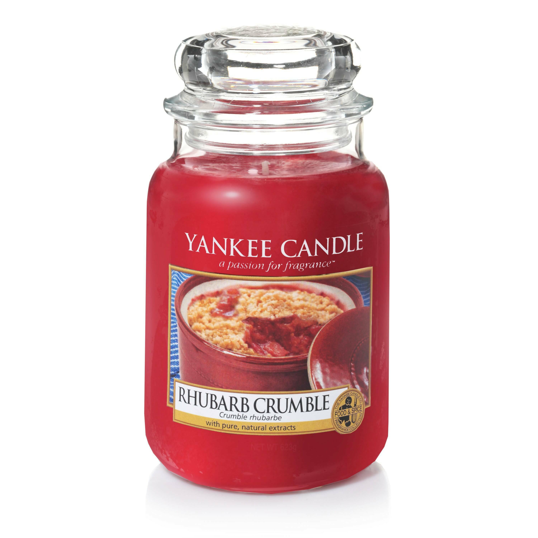Свеча большая  в стеклянной банке Rhubarb Crumble
