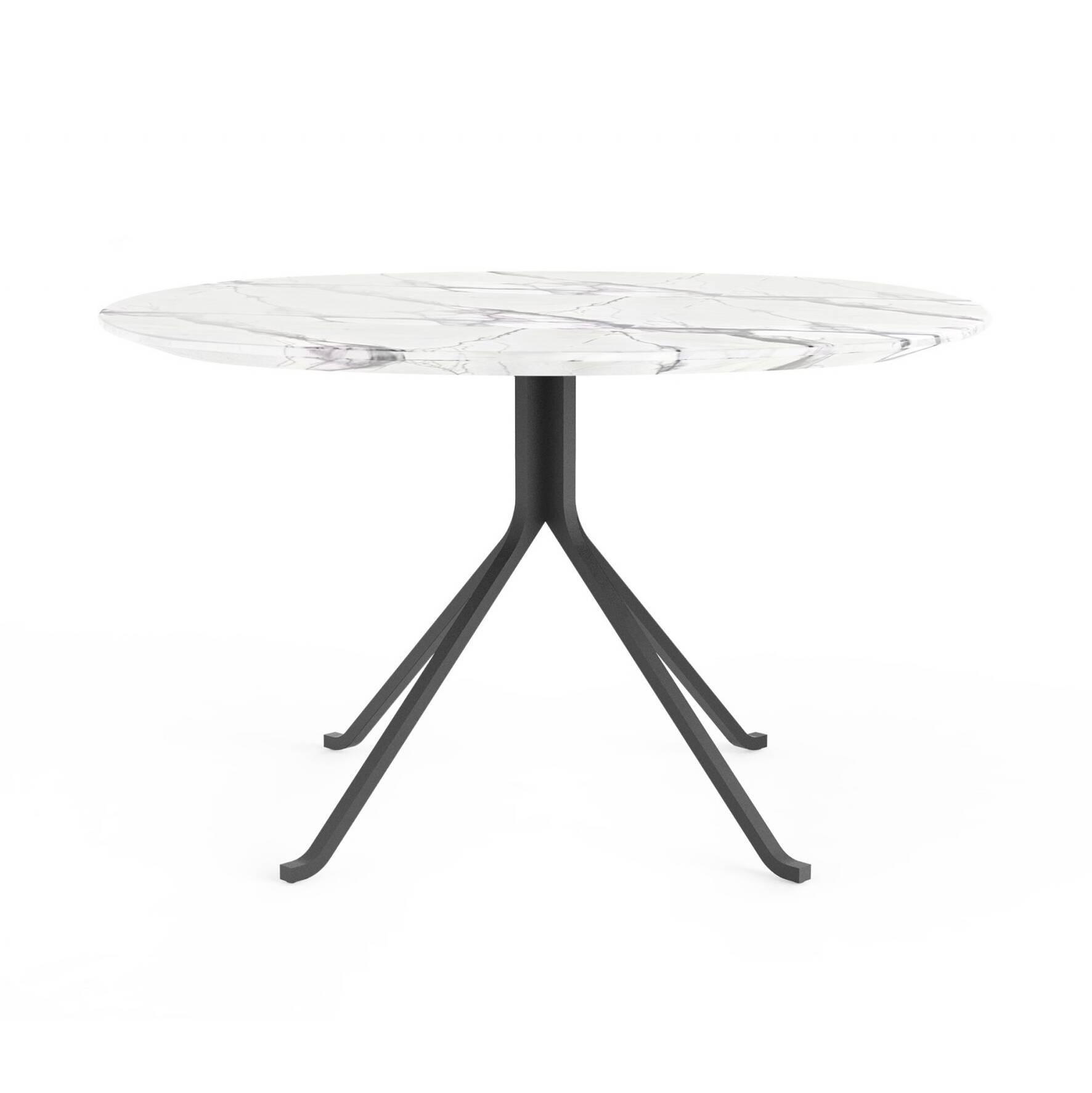 Обеденный стол Blink с каменной столешницей диаметр 120 стол обеденный опора металл орех монпелье 432903 шатура столы обеденные