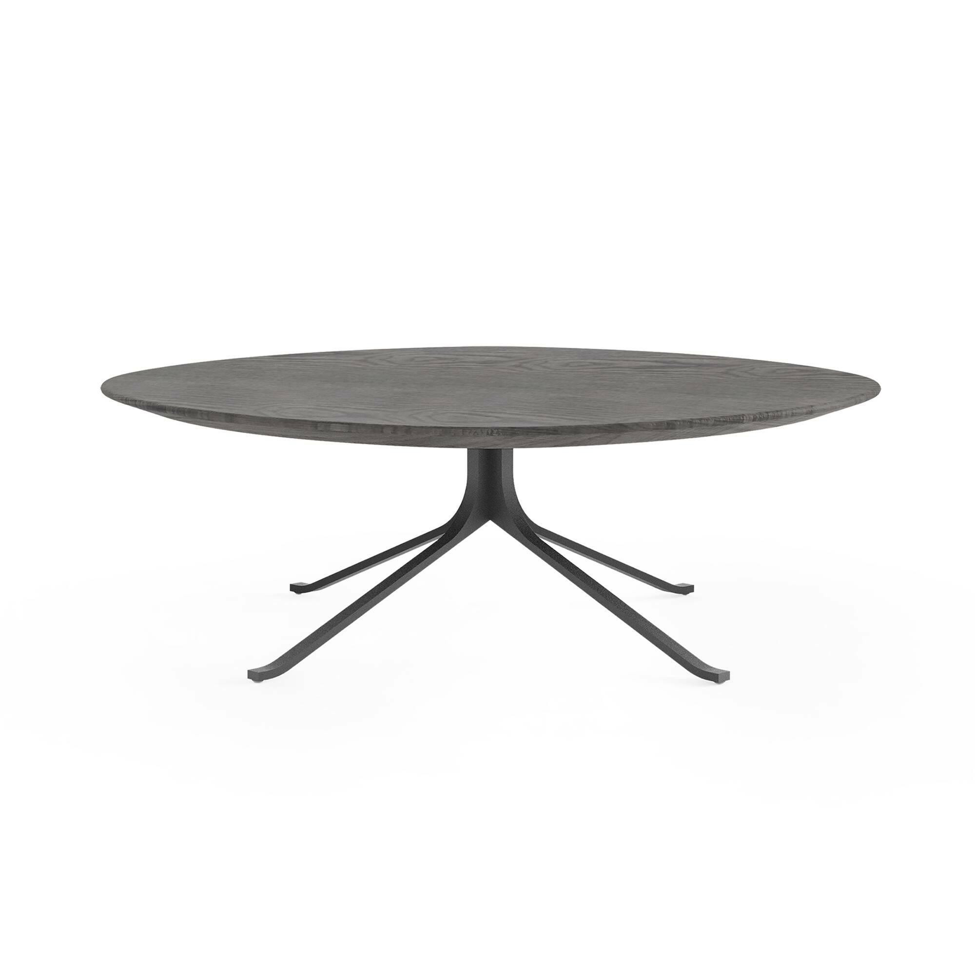 Кофейный стол Blink с деревянной столешницей диаметр 108