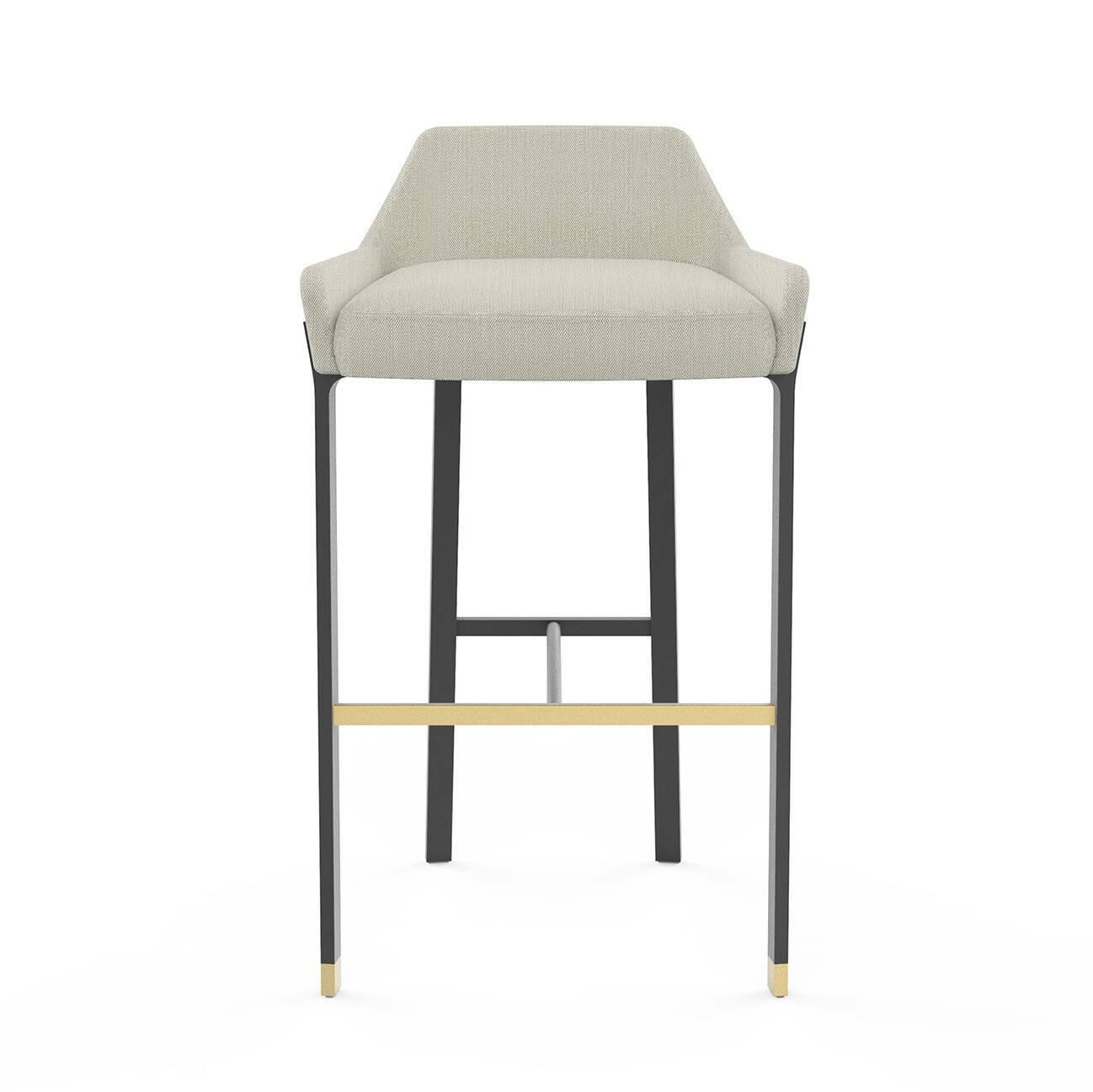 Барный стул BlinkБарные<br>Барные стулья в интерьере играют особенную роль – не только практичную, но и эстетическую. Такие изделия могут украсить интерьер. Барный стул Blink от компании Stellar Works – это идеальный вариант для стильного современного интерьера, который нужно дополнить красивой и по-домашнему уютной мебелью.<br><br><br> Барный стул Blink обладает такой конструкцией ножек, которая оснащена удобной опорой для ног и сиденья. Опора стула изготавливается из стали – практичного и надежного материала, который н...<br><br>stock: 0<br>Высота: 86,7<br>Высота сиденья: 75<br>Ширина: 51,6<br>Глубина: 51,2<br>Цвет ножек: Черный<br>Материал сидения: Полиэстер, Полиуретан<br>Цвет сидения: Бело-серый<br>Цвет ножек дополнительный: Латунь<br>Тип материала сидения: Ткань<br>Коллекция ткани: Fabric B: Lamous<br>Тип материала ножек: Сталь