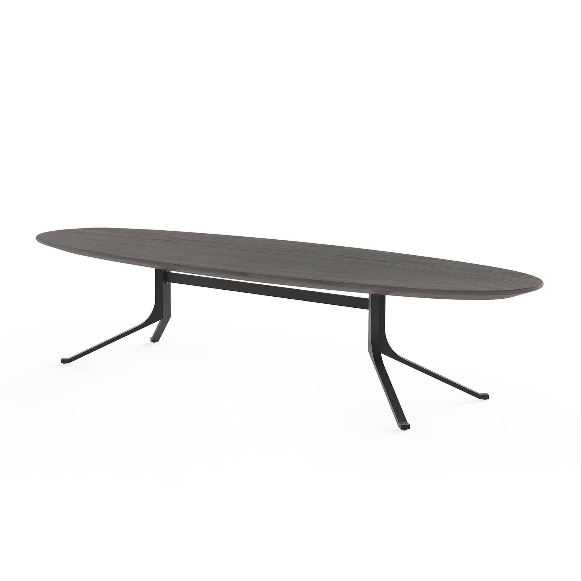 Кофейный стол Blink с деревянной столешницей овальный