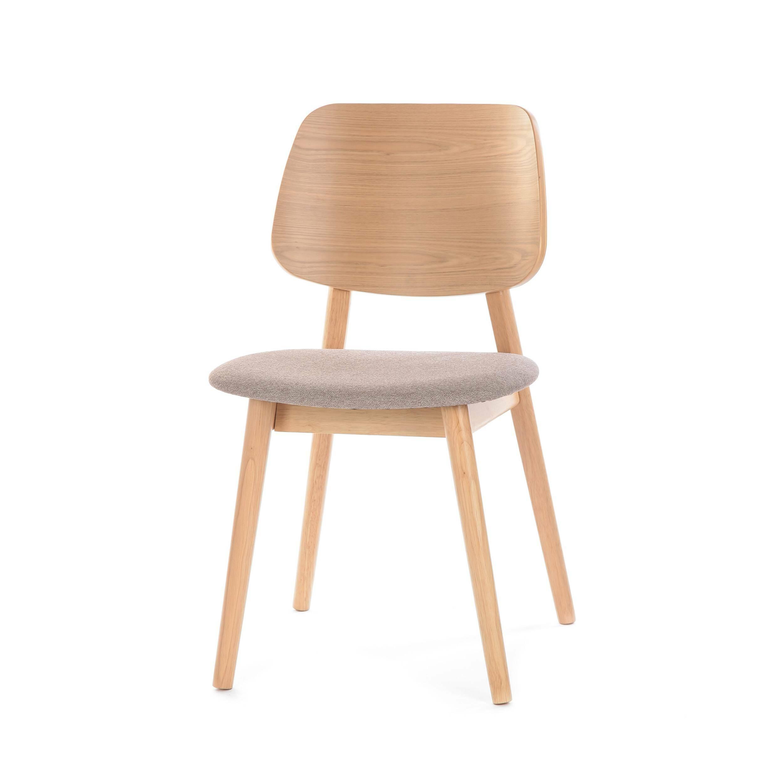 Стул LuusИнтерьерные<br>Простой стиль этой модели делает ее очень функциональной – стул Luus подойдет как для дополнения мебельного ансамбля гостиной комнаты, так и для создания уютной и комфортной обстановки на кухне или в столовой. Стул выполнен в классическом стиле и спокойной цветовой гамме.<br><br><br> На выбор предлагаются различные варианты расцветки под разные породы дерева, однако сам каркас стула изготавливается из прочного и надежного массива ясеня. Изделия из дерева высоко ценятся во многих интерьерных стил...<br><br>stock: 0<br>Высота: 81,5<br>Ширина: 46<br>Глубина: 54,5<br>Цвет ножек: Клен<br>Цвет спинки: Клен<br>Материал ножек: Массив ясеня<br>Материал спинки: Фанера, шпон ясеня<br>Материал сидения: Полиэстер<br>Цвет сидения: Светло-коричневый<br>Тип материала спинки: Фанера<br>Тип материала сидения: Ткань<br>Тип материала ножек: Дерево